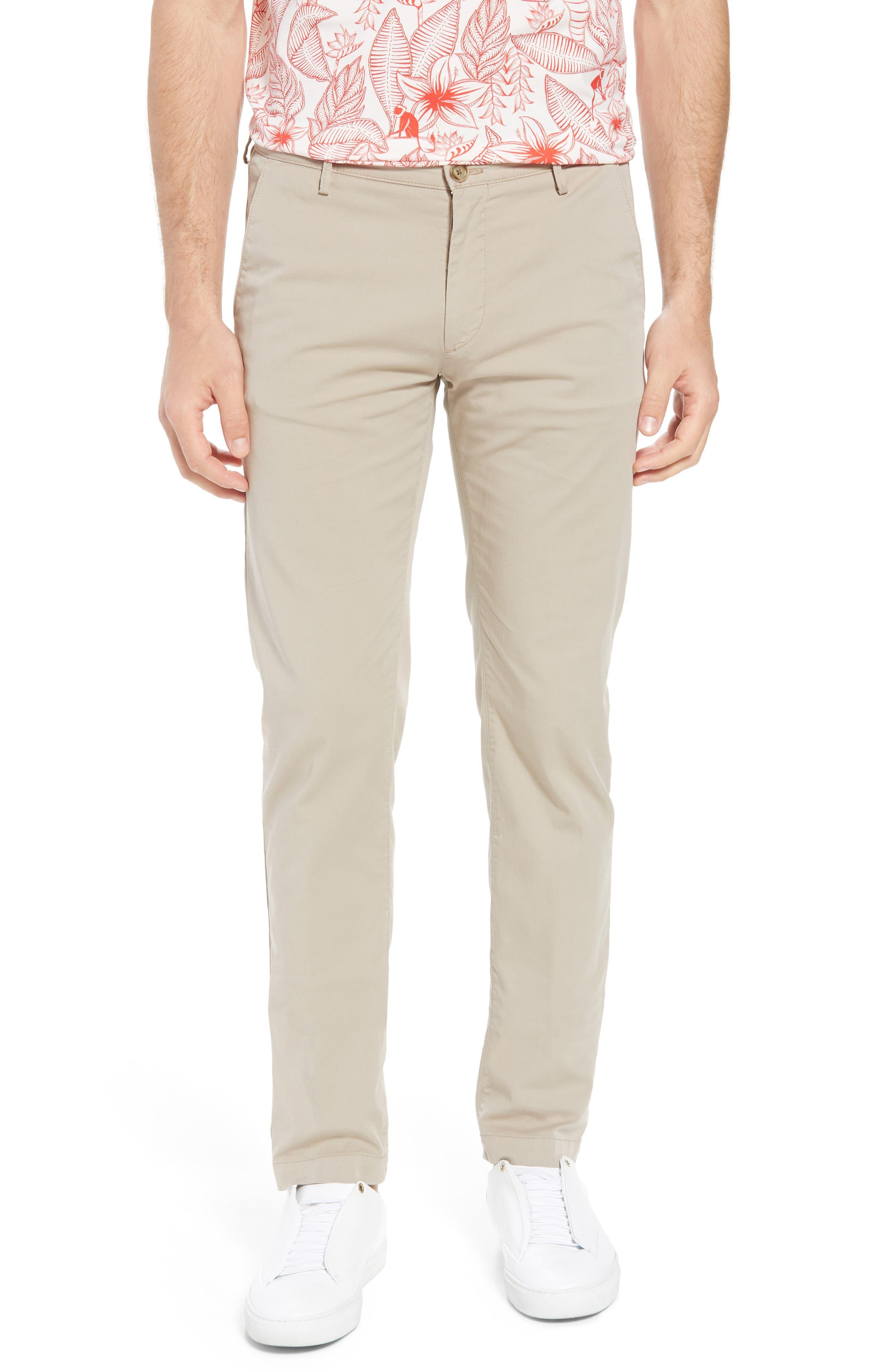 Rice Slim Fit Chino Pants,                             Main thumbnail 1, color,                             Brown