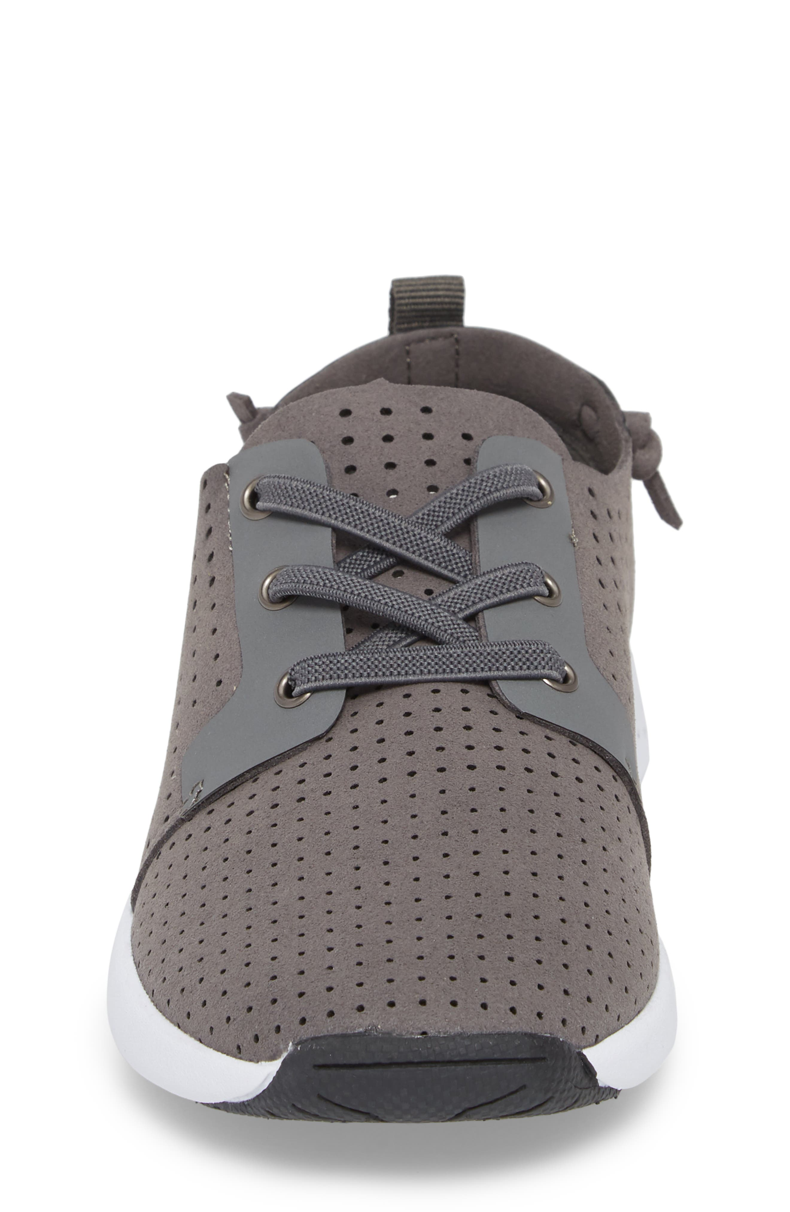 Brixxon Perforated Sneaker,                             Alternate thumbnail 4, color,                             Grey