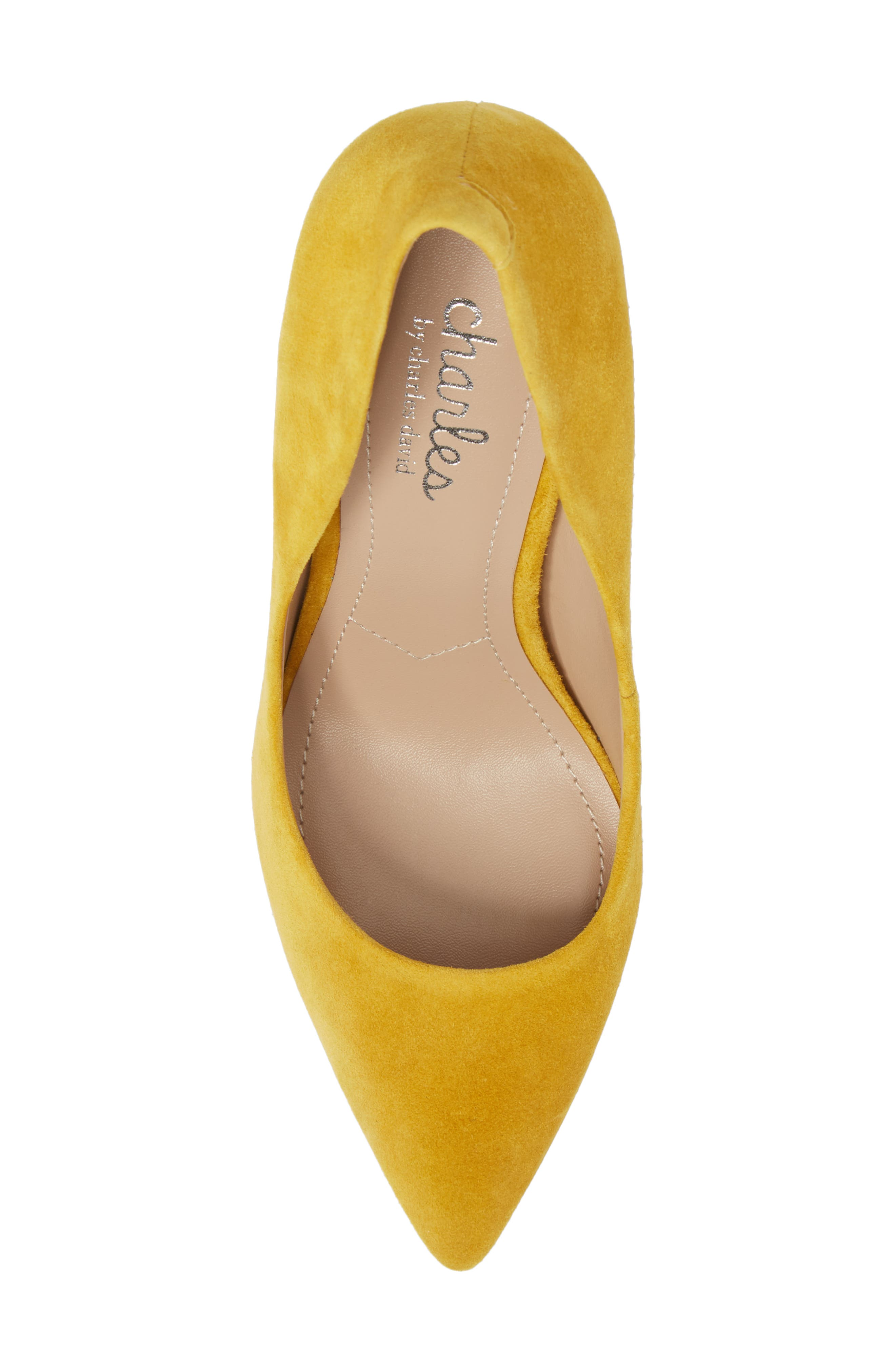 Maxx Pointy Toe Pump,                             Alternate thumbnail 5, color,                             Canary Suede