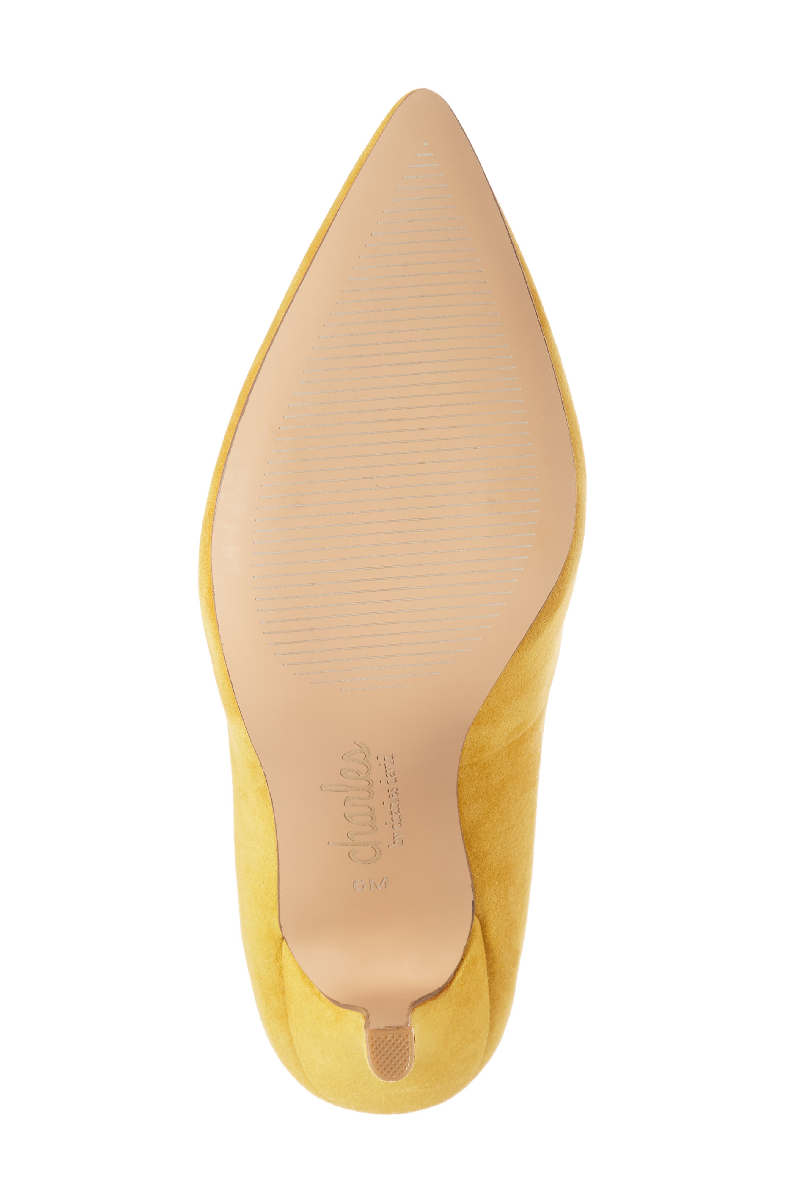 Maxx Pointy Toe Pump,                             Alternate thumbnail 6, color,                             Canary Suede