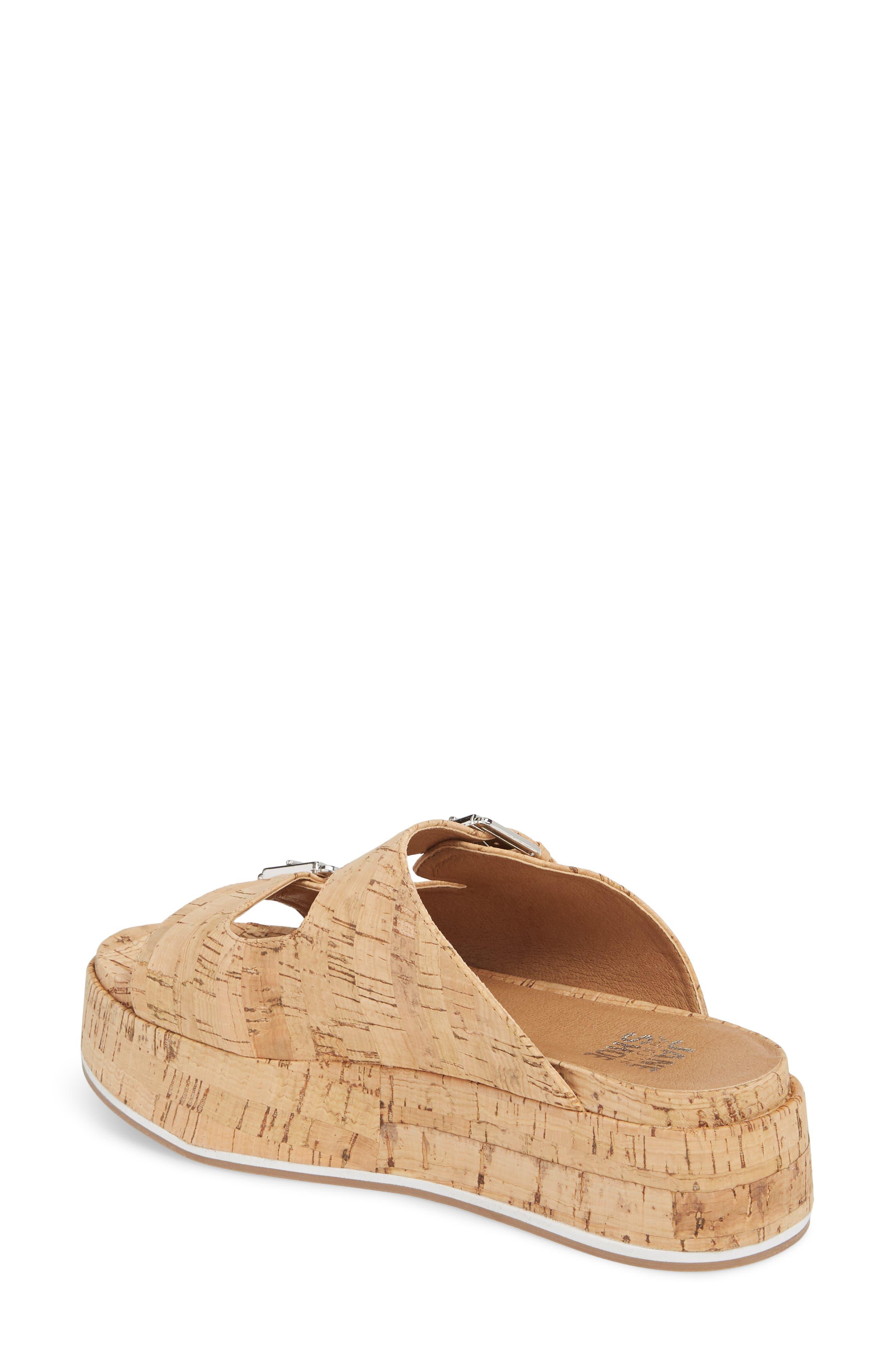 Jordan Two-Buckle Slide Sandal,                             Alternate thumbnail 2, color,                             Cork