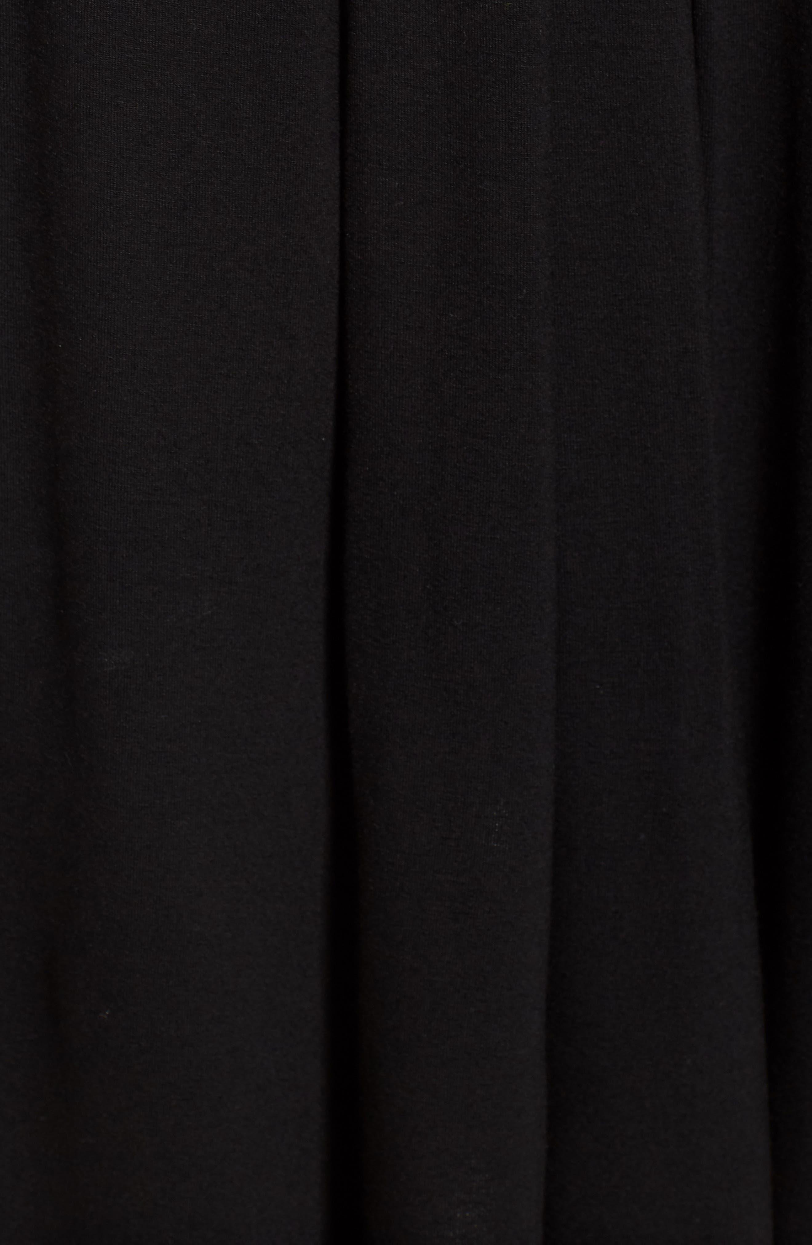 Pleated Jersey Walking Shorts,                             Alternate thumbnail 5, color,                             Black
