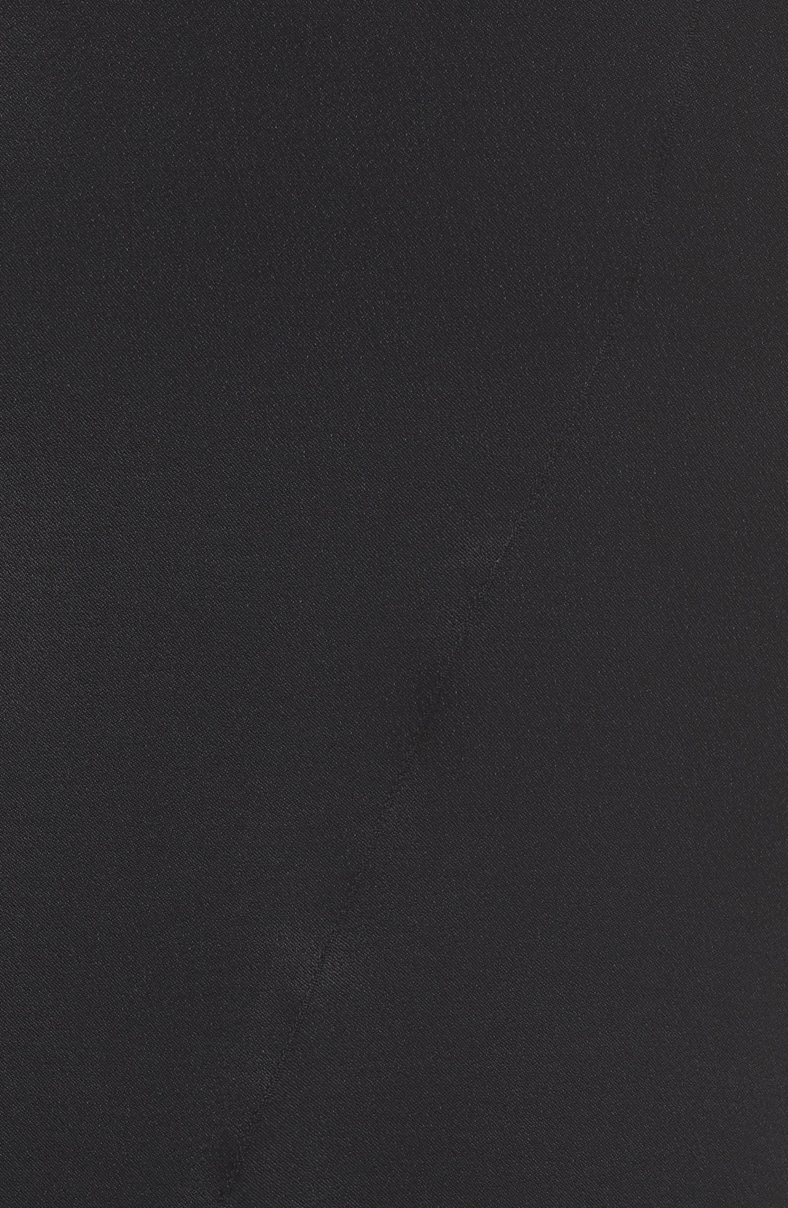 Lace Trim Slip Skirt,                             Alternate thumbnail 6, color,                             Black
