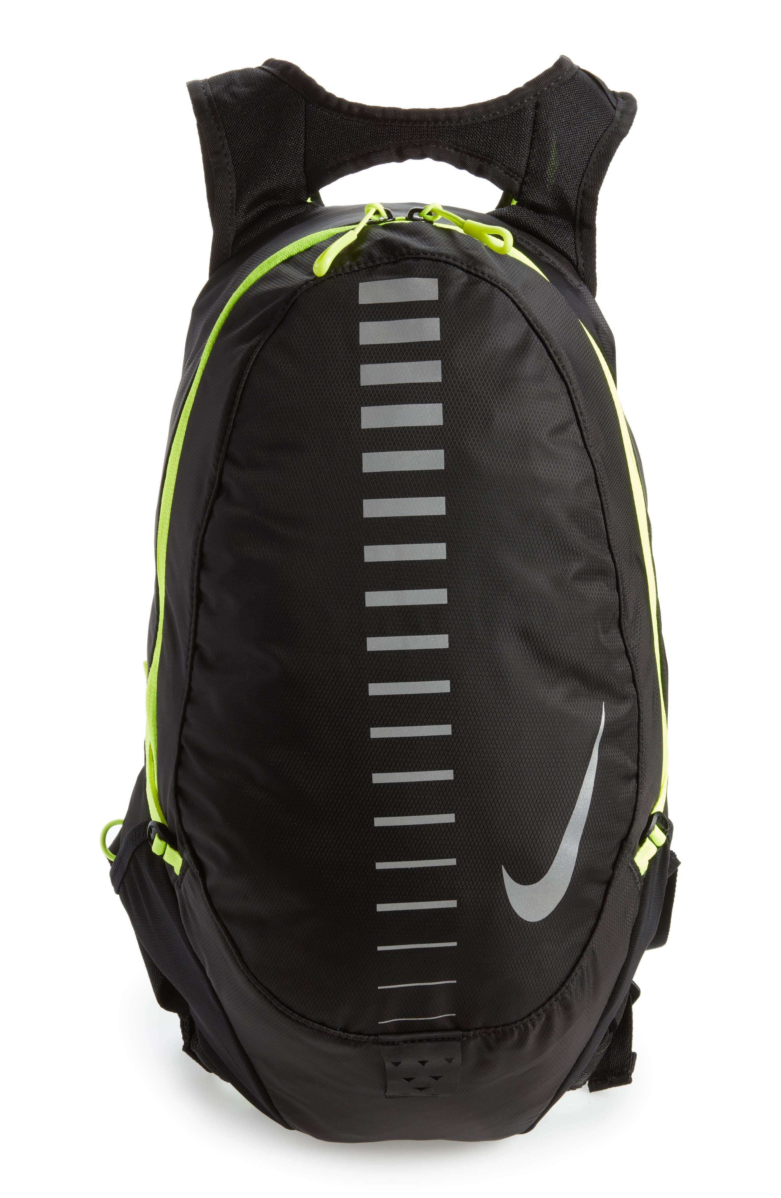 Run Commuter Backpack,                         Main,                         color, Black/ Volt/ Silver