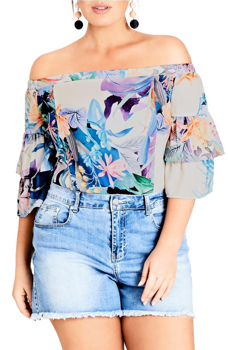 3f7917802e390 City Chic Trendy Plus Size Colored Denim Shorts In Medium Denim ...