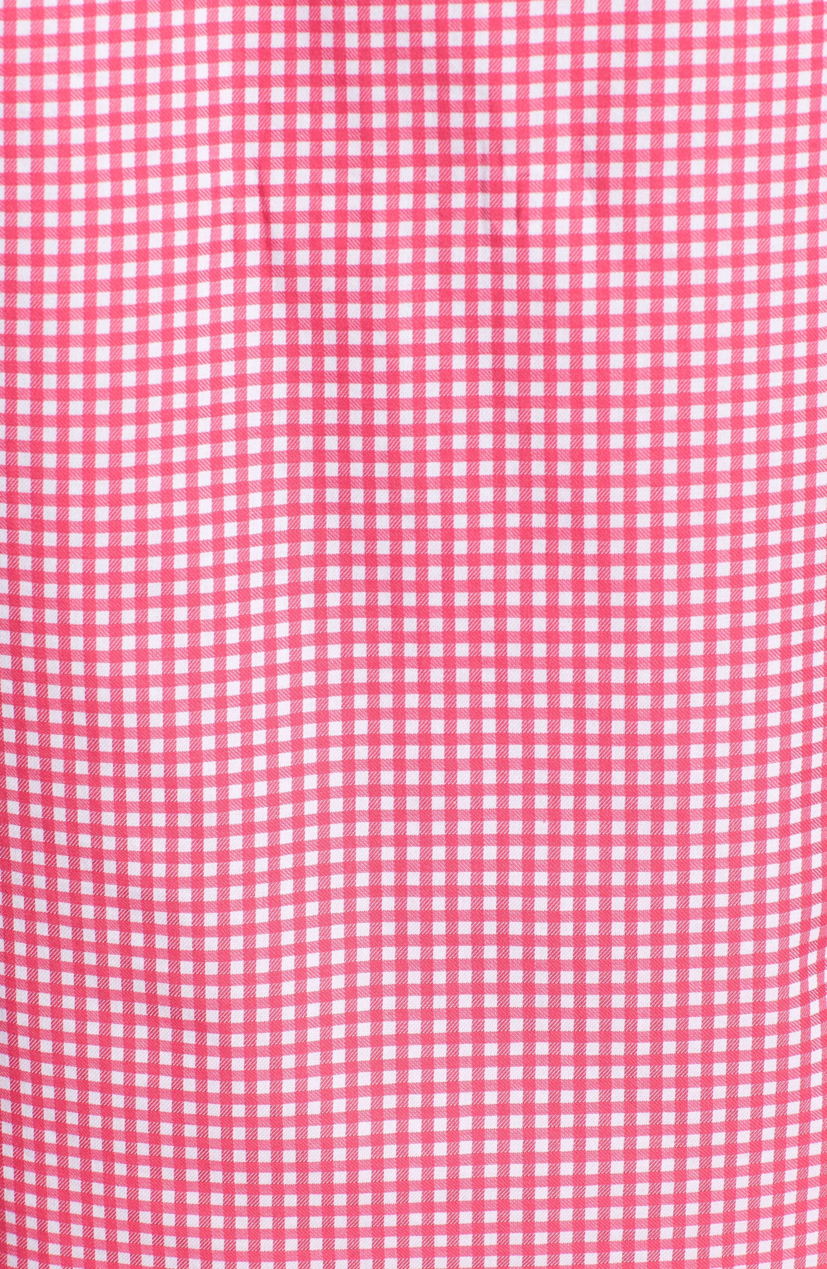 Aden Regular Fit Sport Shirt,                             Alternate thumbnail 5, color,                             Coral