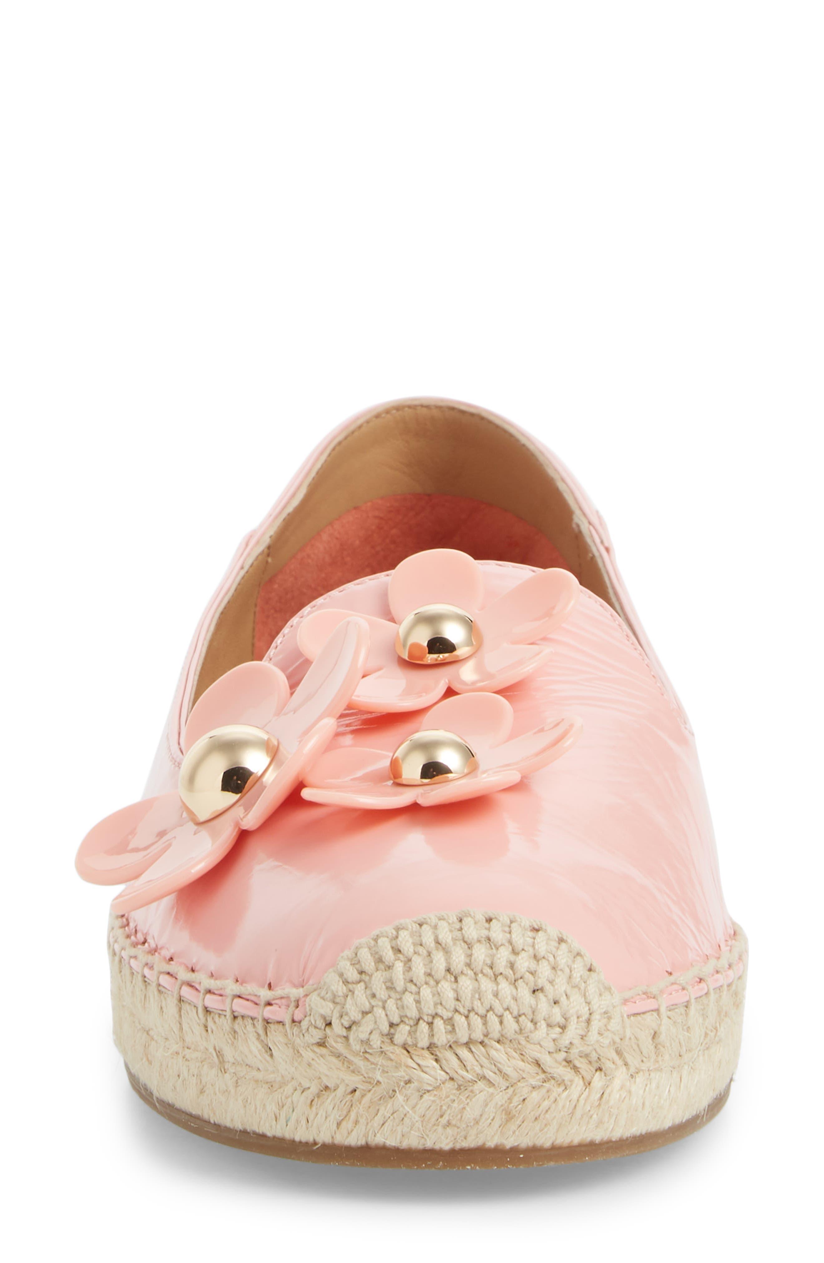 Daisy Studded Espadrille,                             Alternate thumbnail 4, color,                             Light Pink