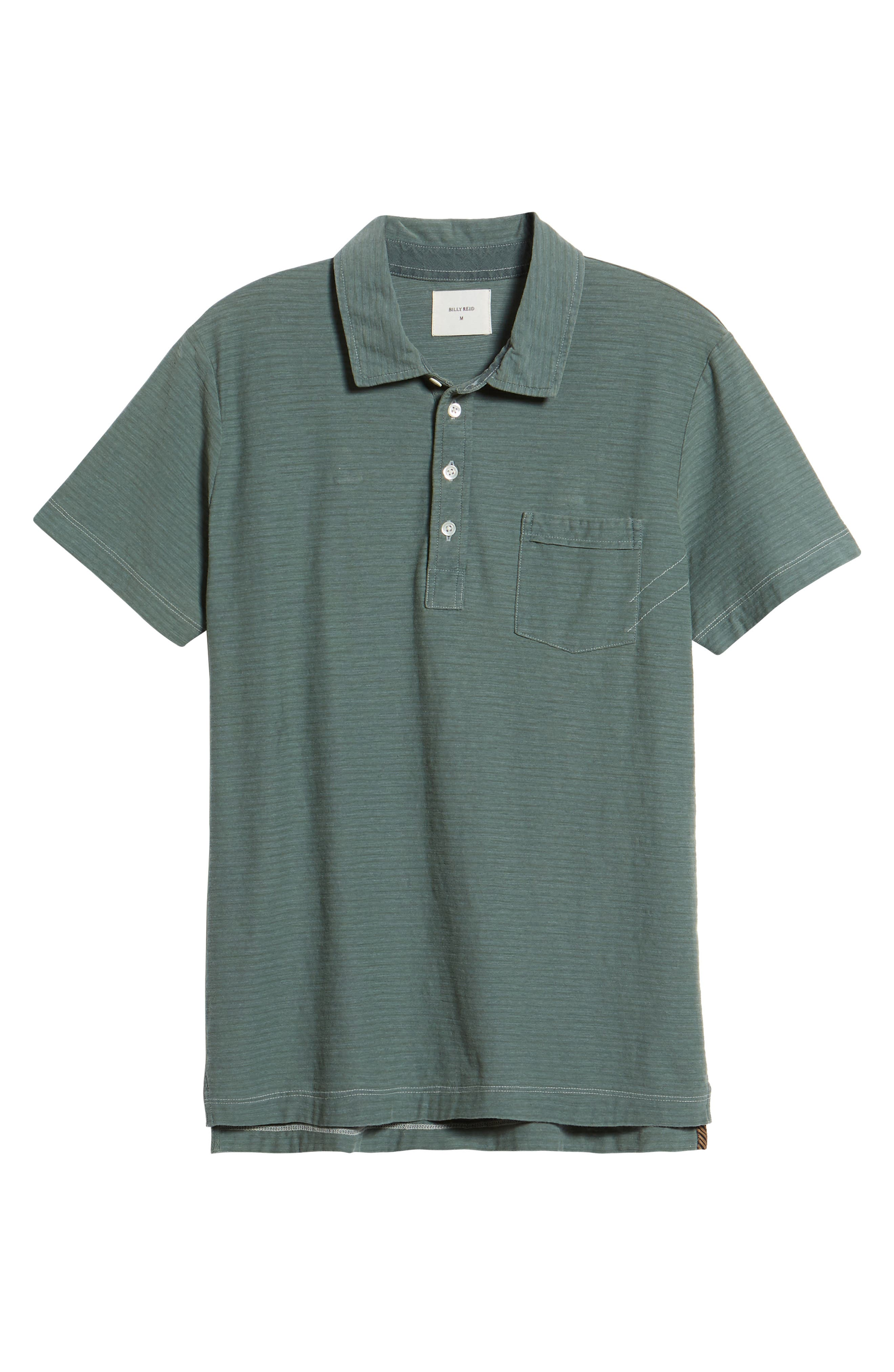 Pensacola Cotton Blend Polo Shirt,                             Alternate thumbnail 6, color,                             Sage