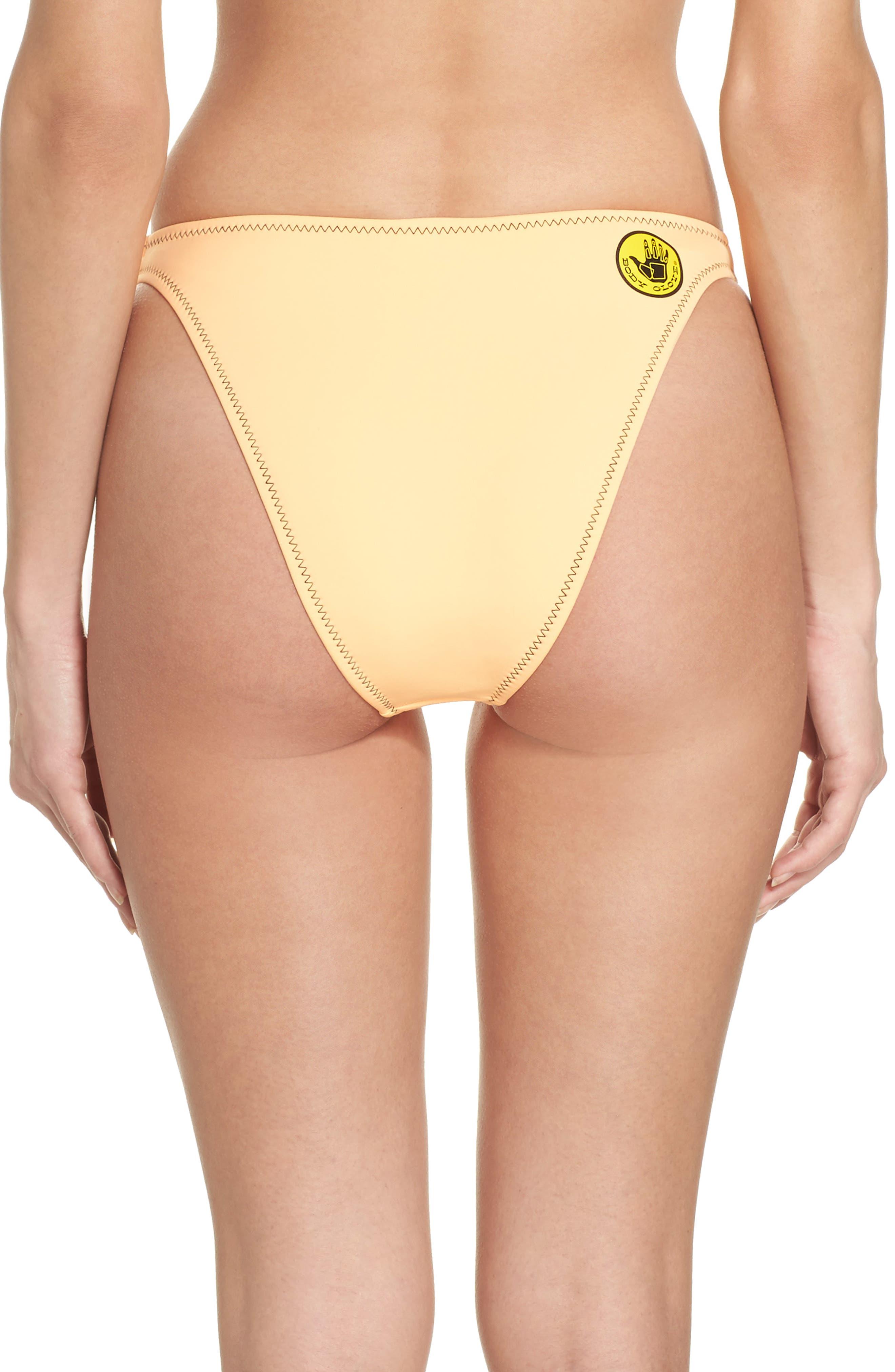 Straight Up Bikini Bottoms,                             Alternate thumbnail 2, color,                             Mango