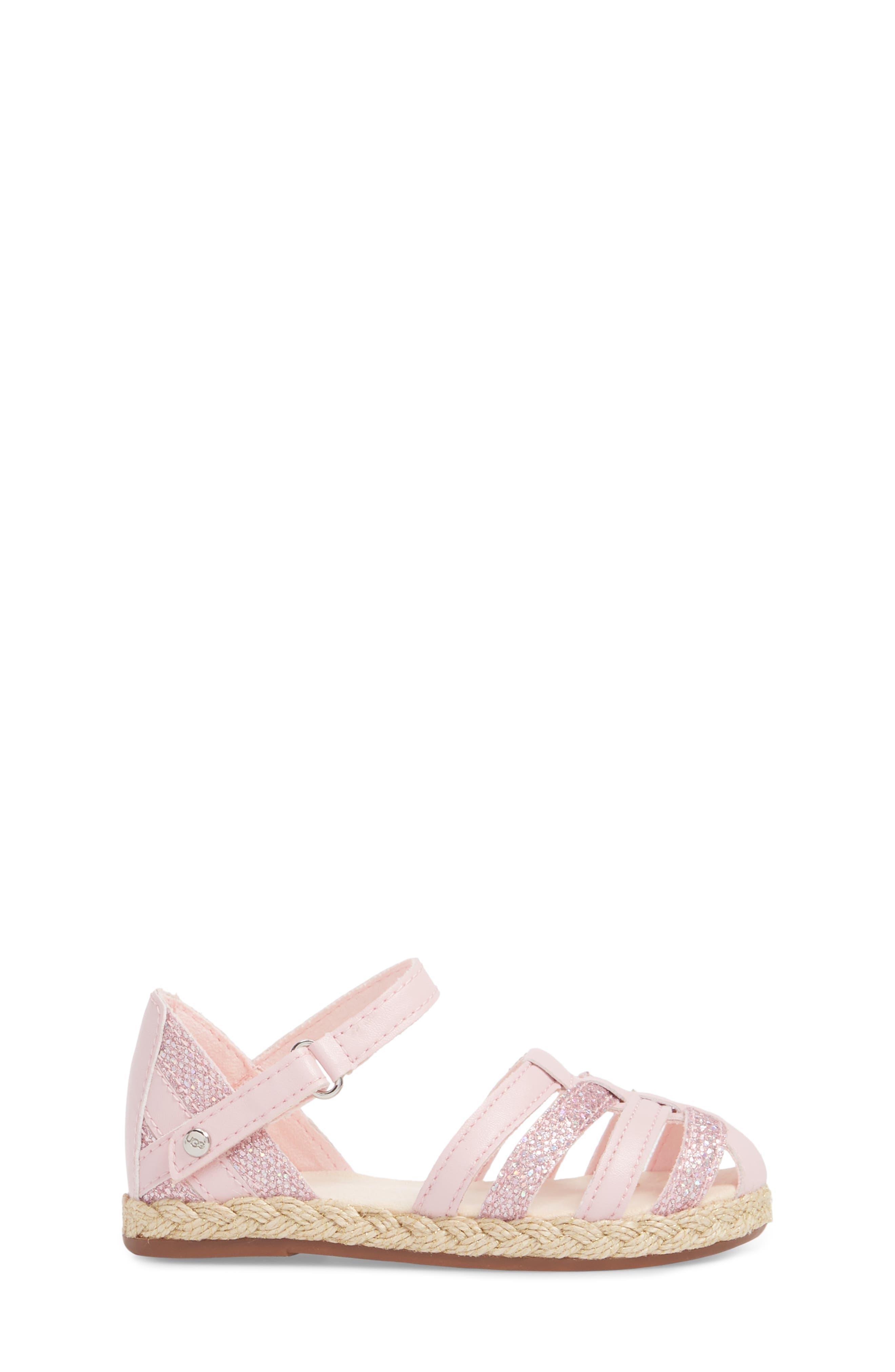 Matilde Espadrille Sandal,                             Alternate thumbnail 3, color,                             Seashell Pink