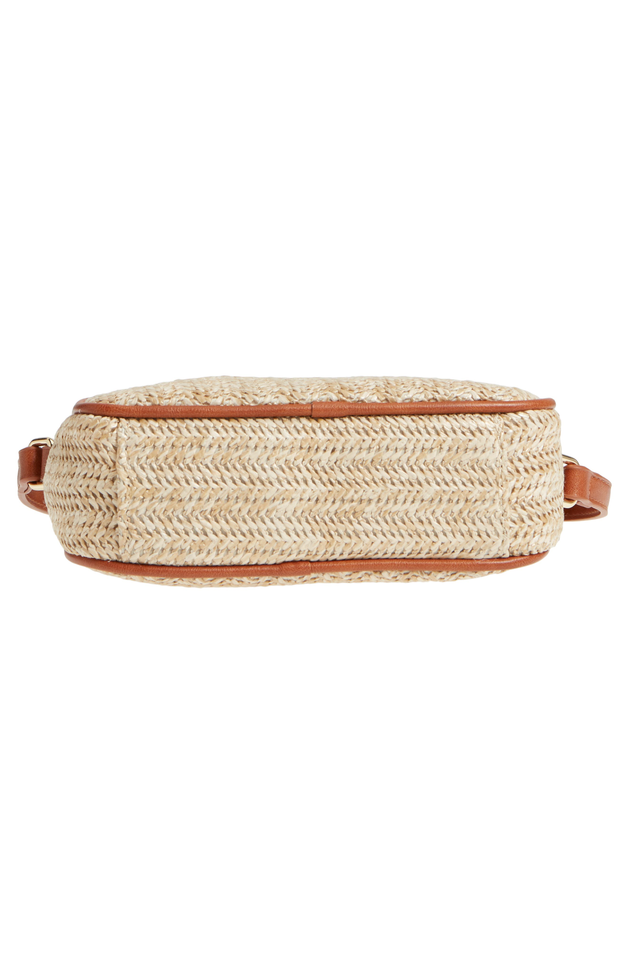 Pipper Faux Leather Camera Bag,                             Alternate thumbnail 6, color,                             Natural