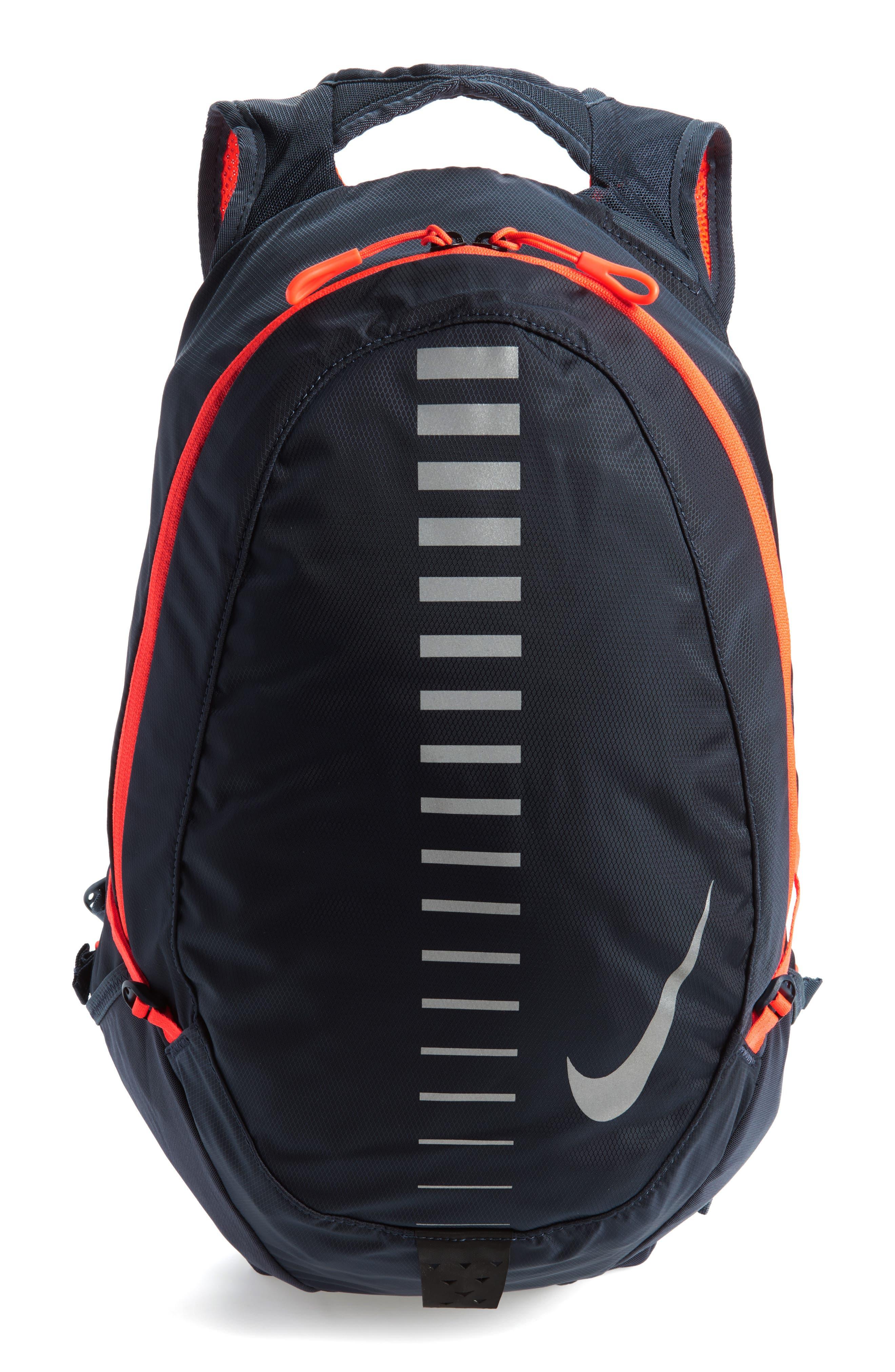 Run Commuter Backpack,                         Main,                         color, Thunder Blue/ Total Crimson