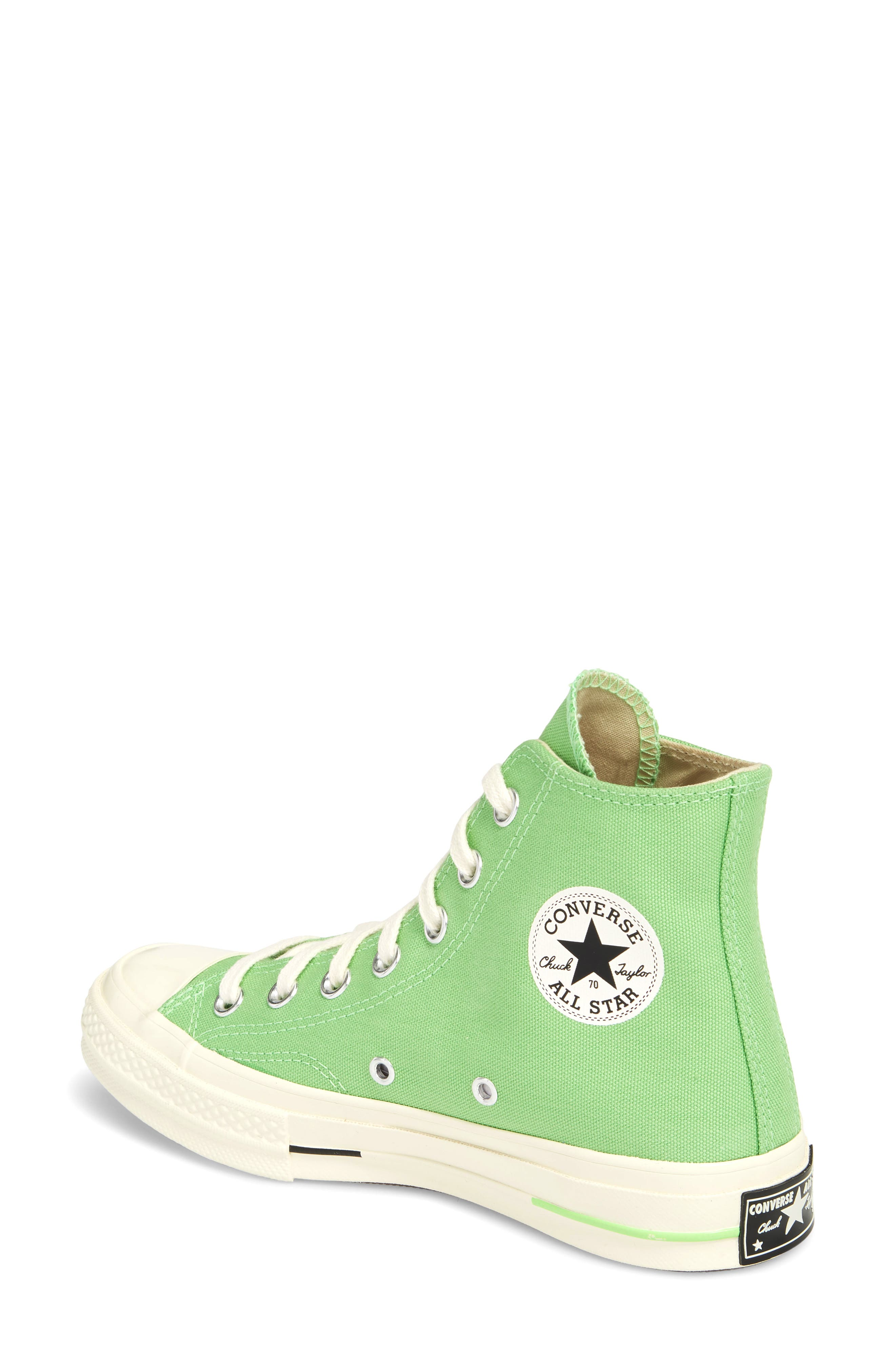 Chuck Taylor<sup>®</sup> All Star<sup>®</sup> 70 Brights High Top Sneaker,                             Alternate thumbnail 2, color,                             Illusion Green