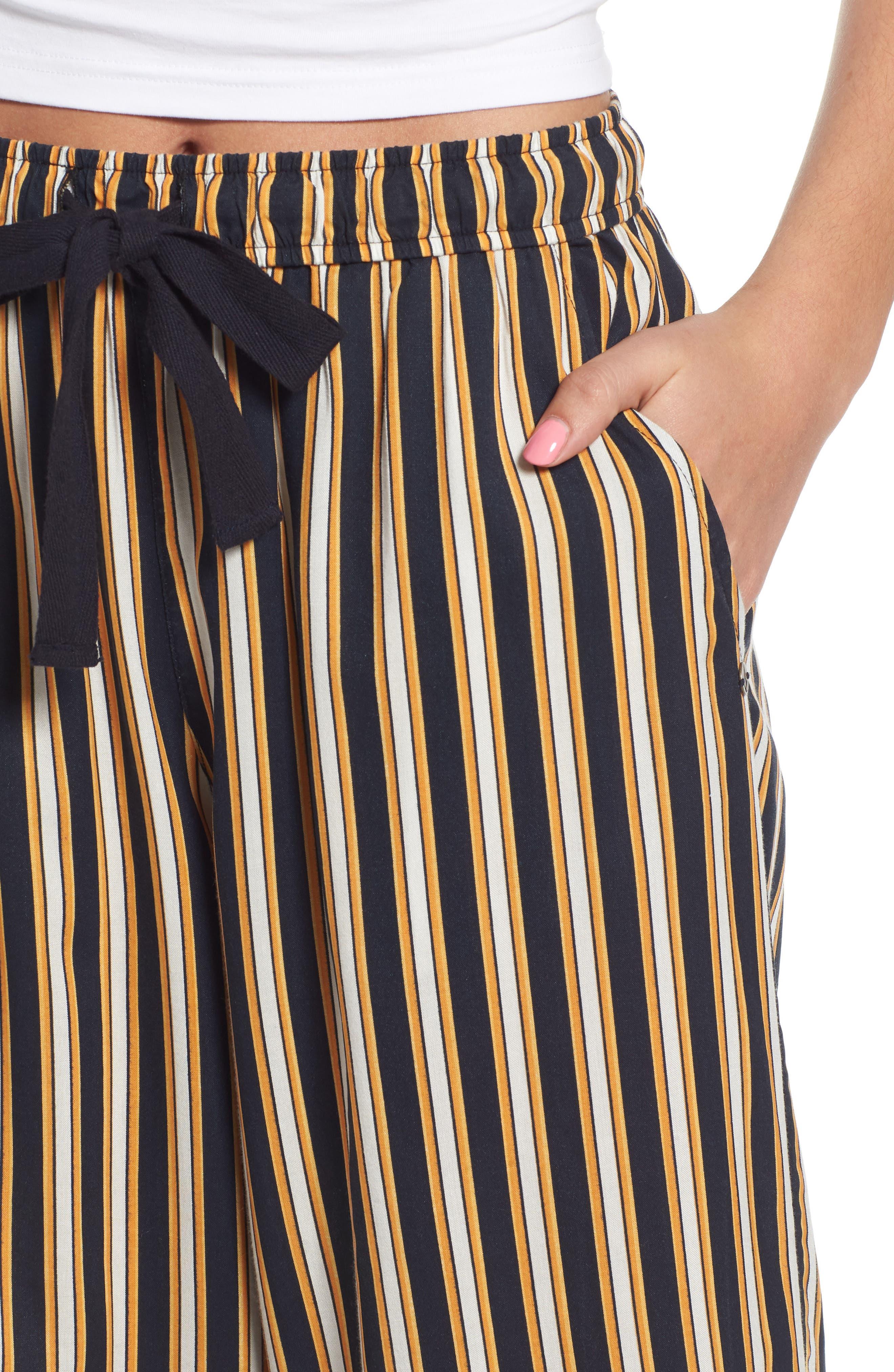 Stoney Stripe Pants,                             Alternate thumbnail 6, color,                             Navy Sea