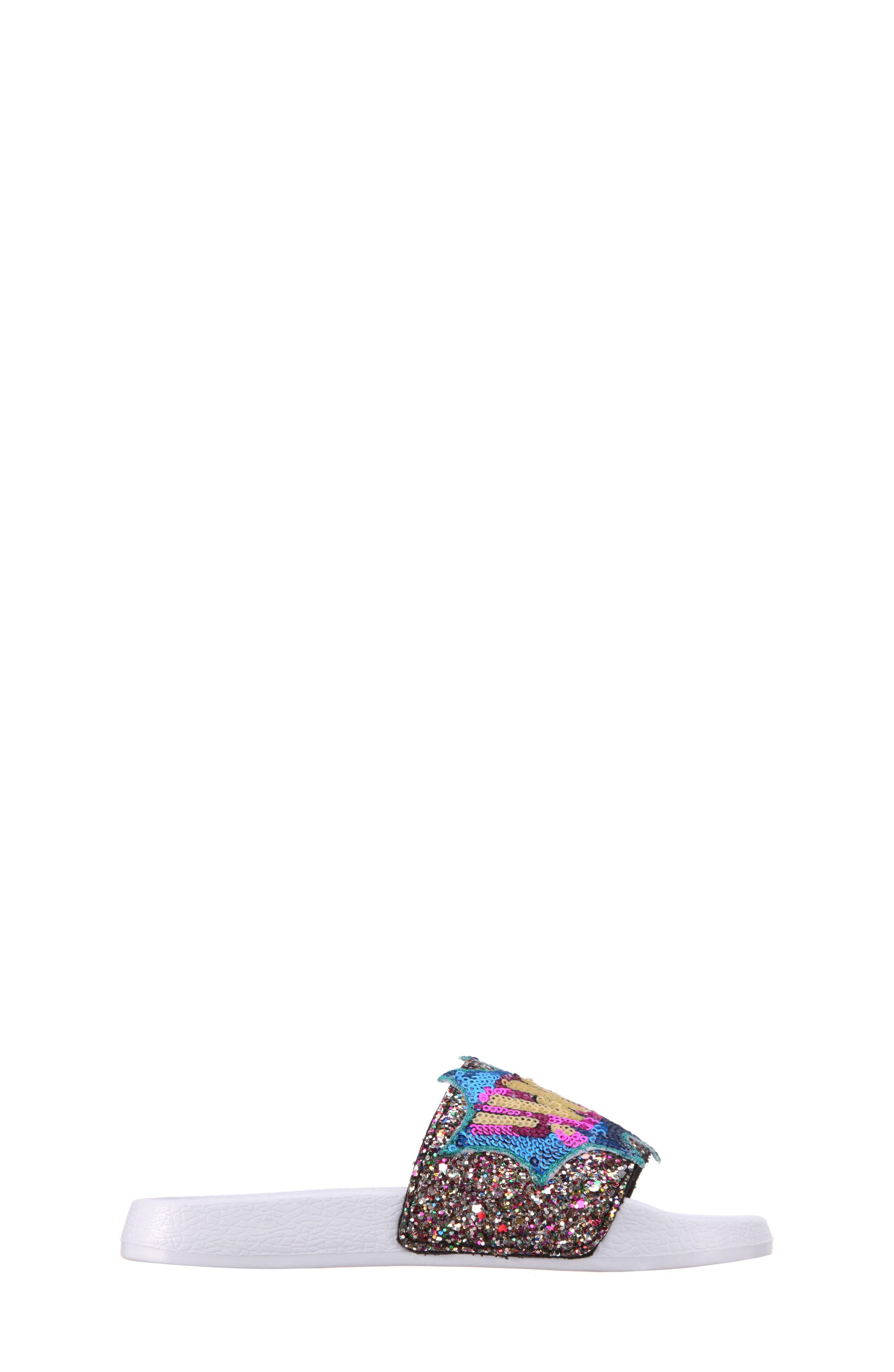 Sabreena2 Sequined Sport Slide,                             Alternate thumbnail 3, color,                             Multi Chunky Glitter