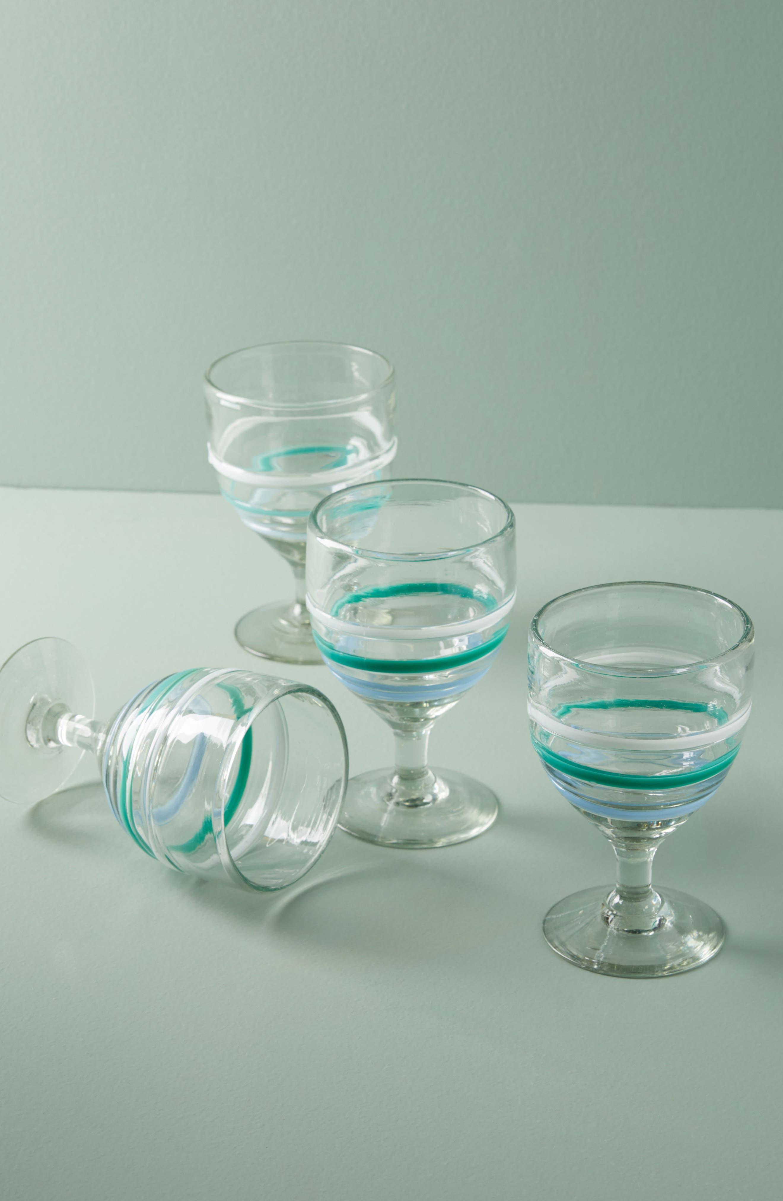 Anthropologie Pipiry Set of 4 Wine Glasses