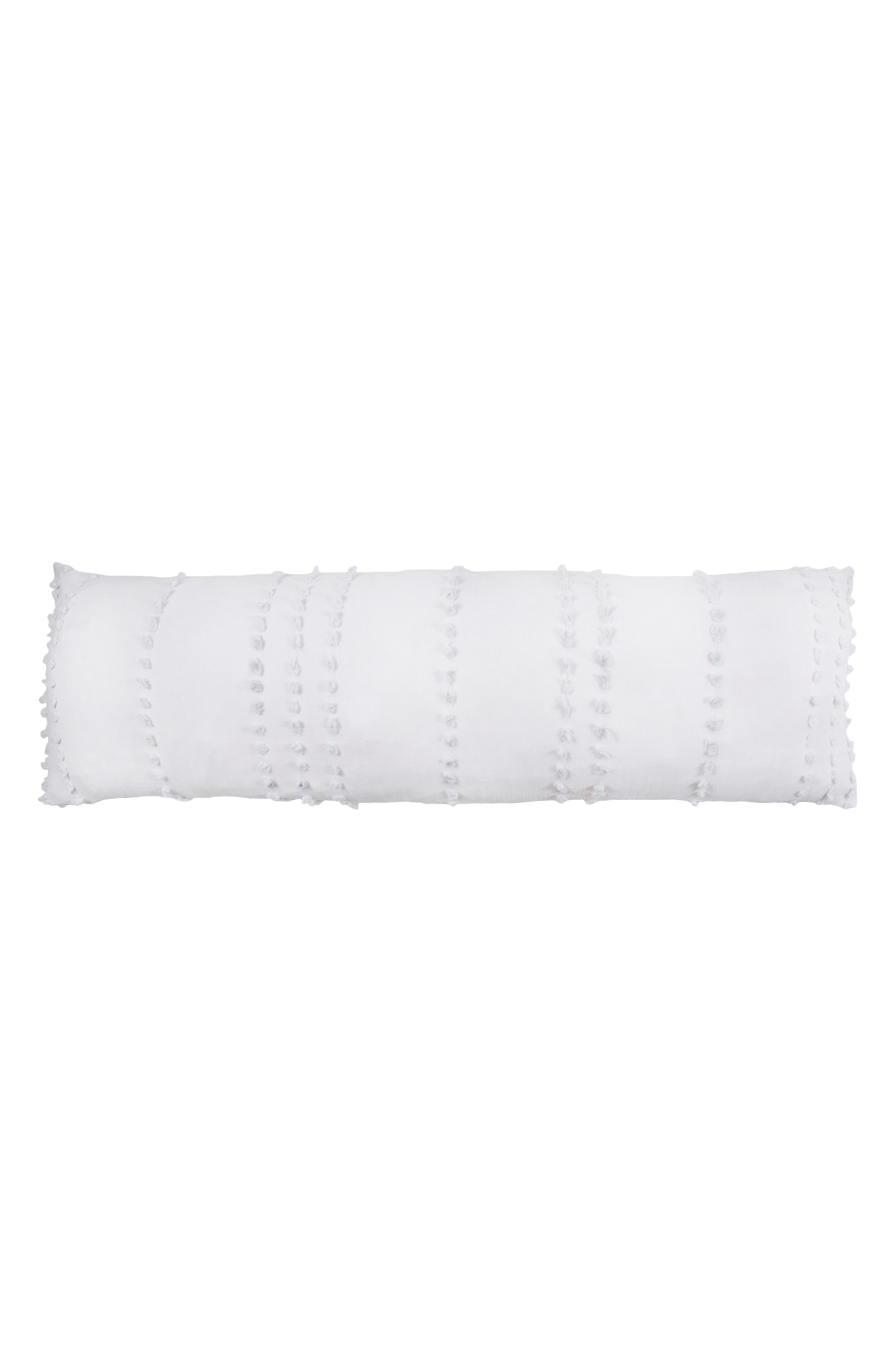 Poppy Body Pillow,                         Main,                         color, White/ Barely Blue