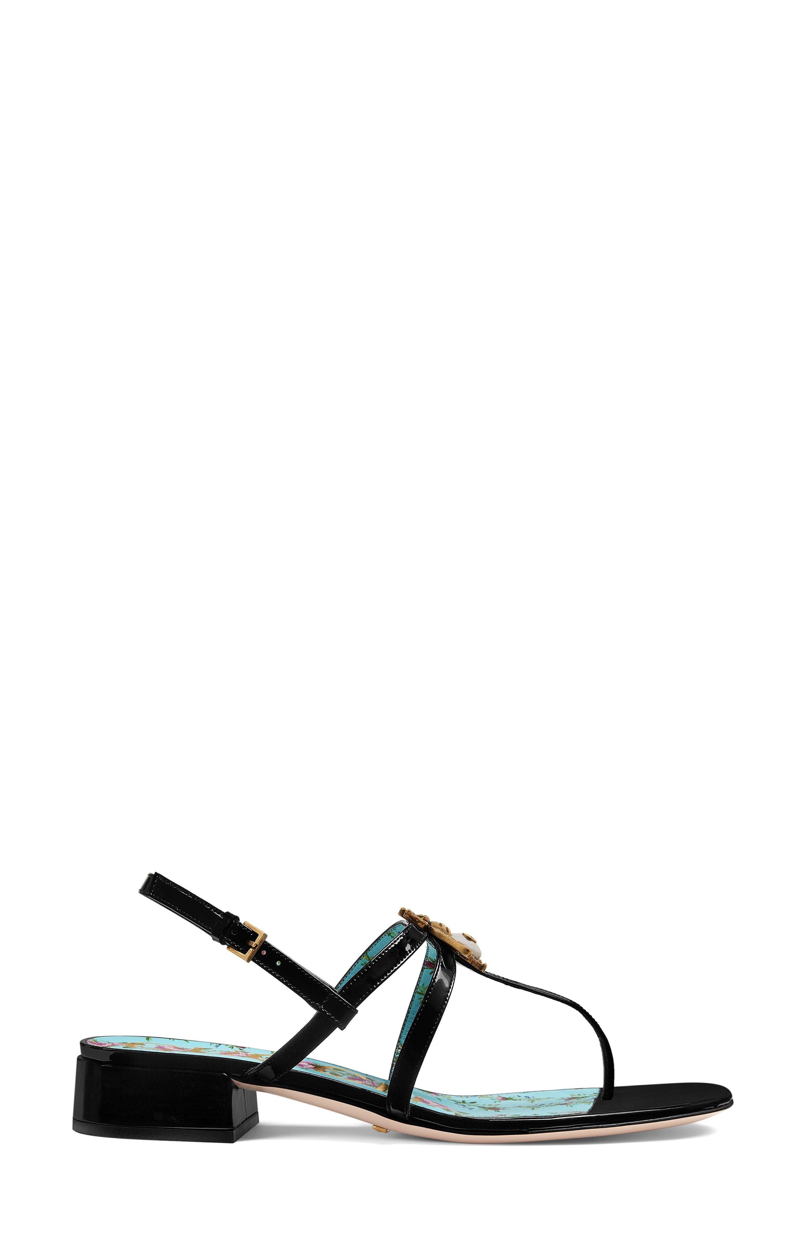 Bee Thong Sandal,                             Alternate thumbnail 2, color,                             Black