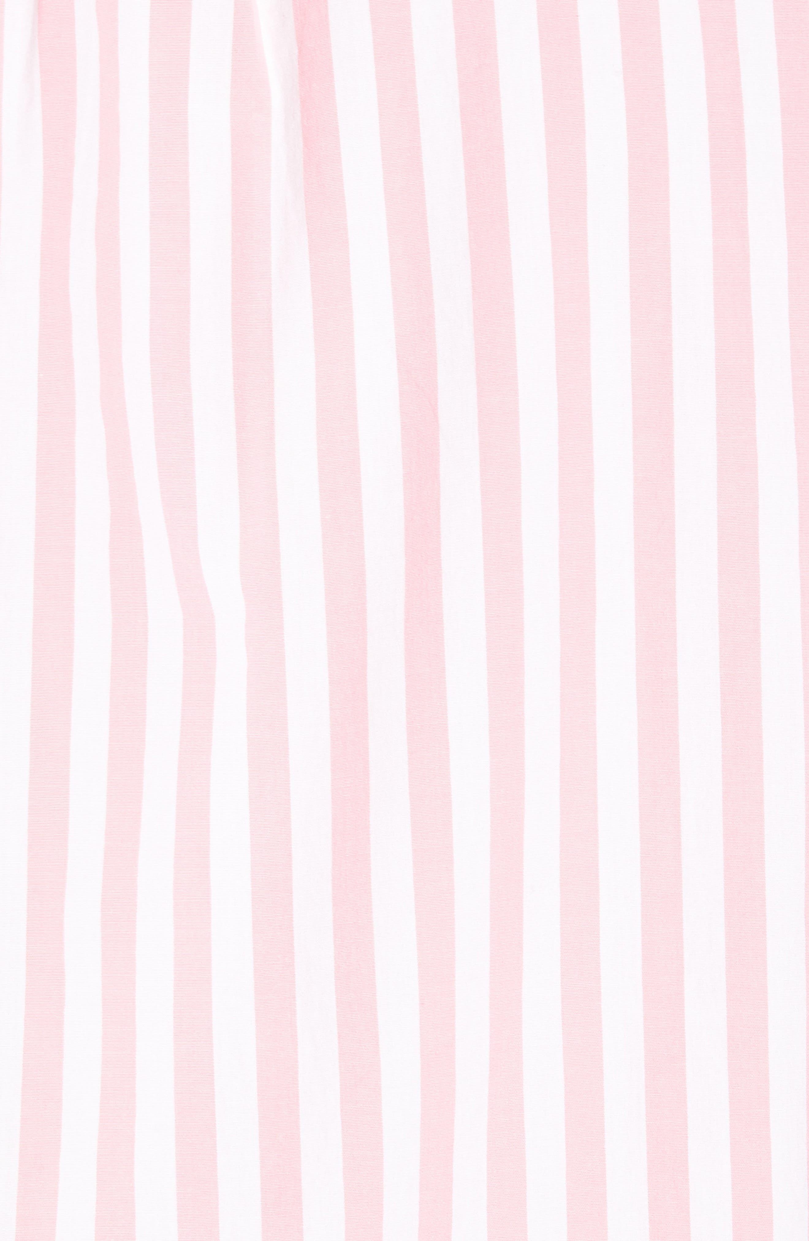 Slim Fit Stretch Secret Wash Stripe Sport Shirt,                             Alternate thumbnail 5, color,                             Azalea