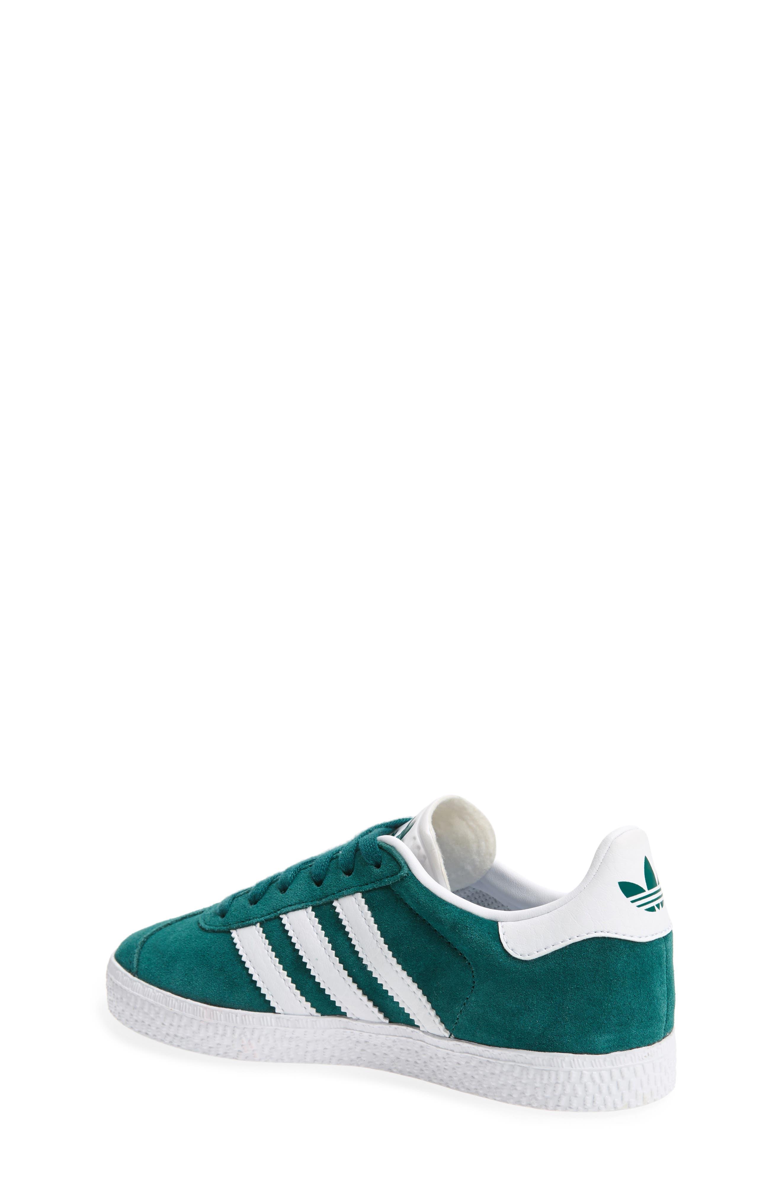 Gazelle Sneaker,                             Alternate thumbnail 2, color,                             Noble Green/ White