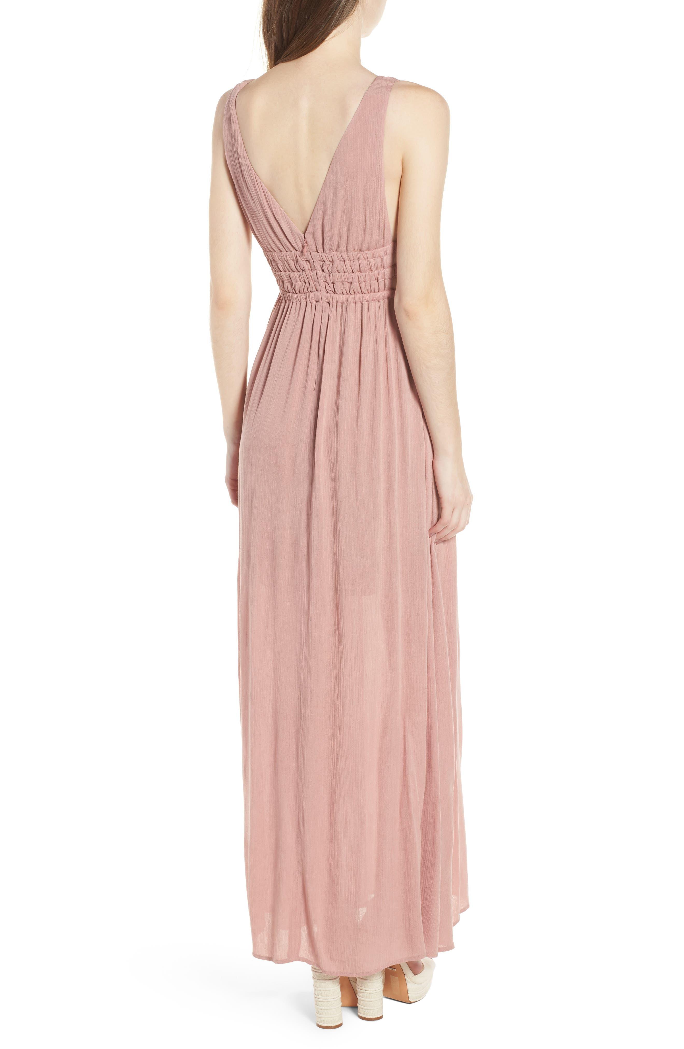 Surrey Maxi Dress,                             Alternate thumbnail 2, color,                             Nude Rose