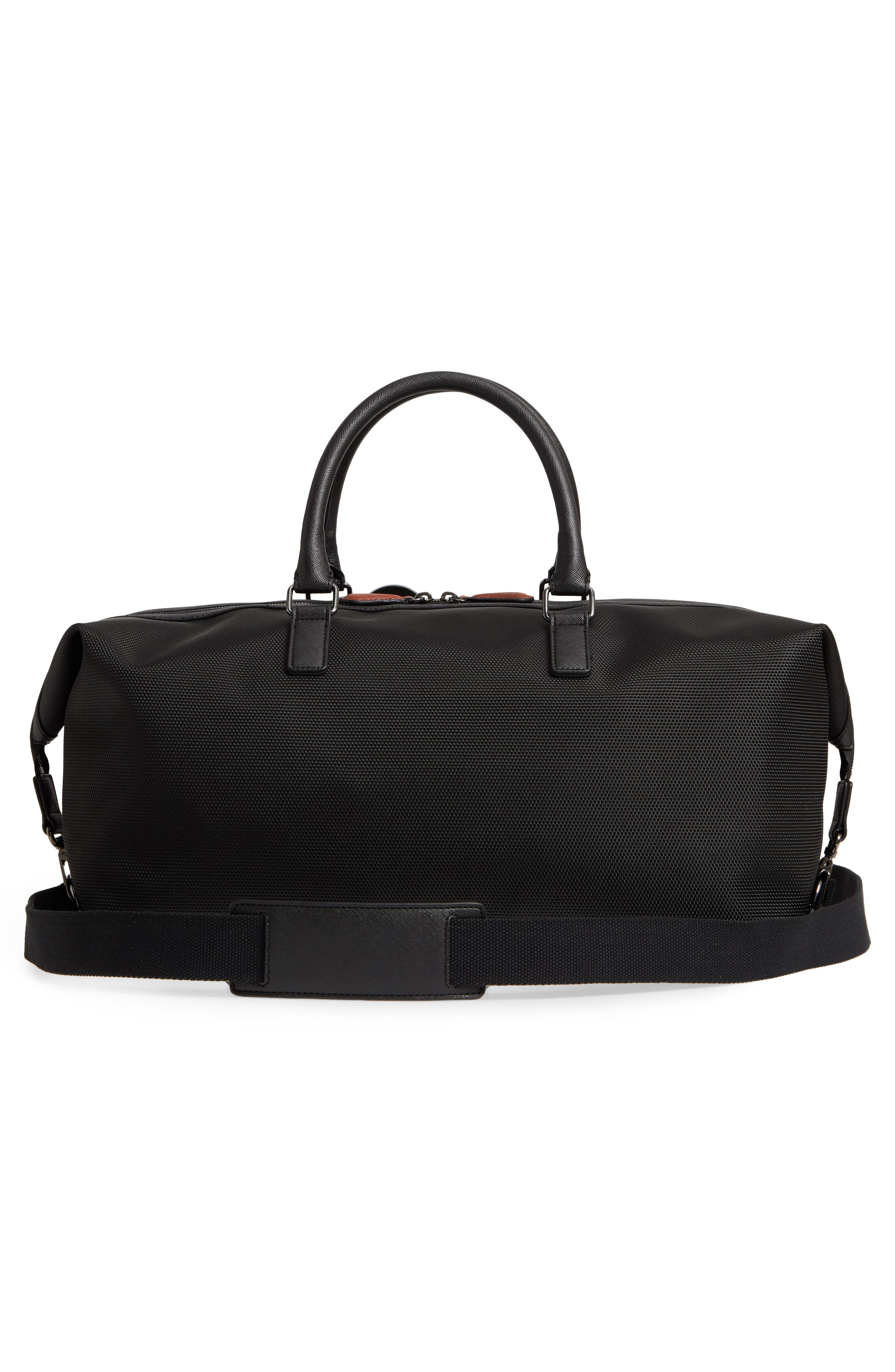 Smart Duffel Bag,                             Alternate thumbnail 3, color,                             Black