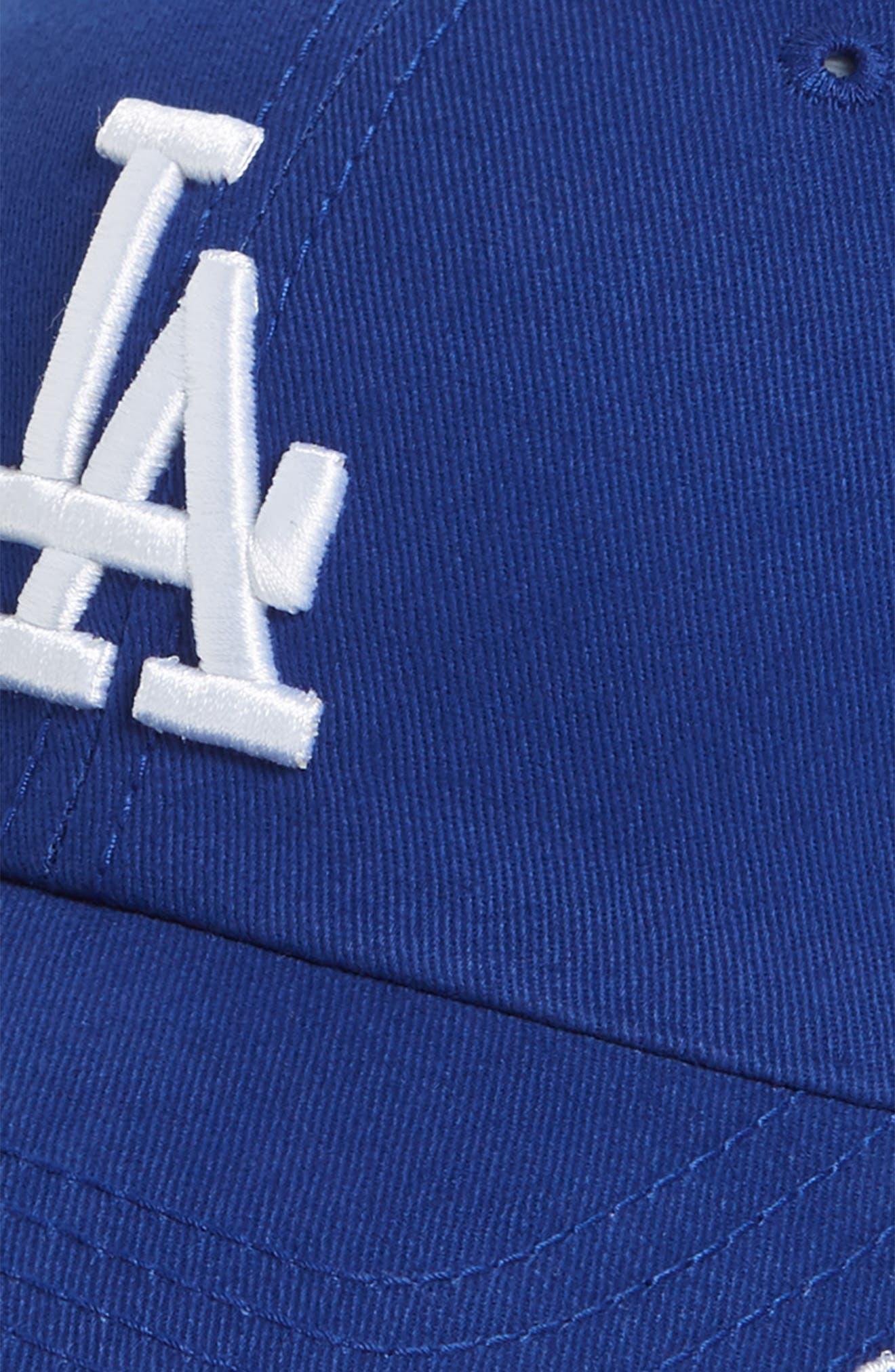 Miata Clean-Up Los Angeles Dodgers Baseball Cap,                             Alternate thumbnail 3, color,                             Royal