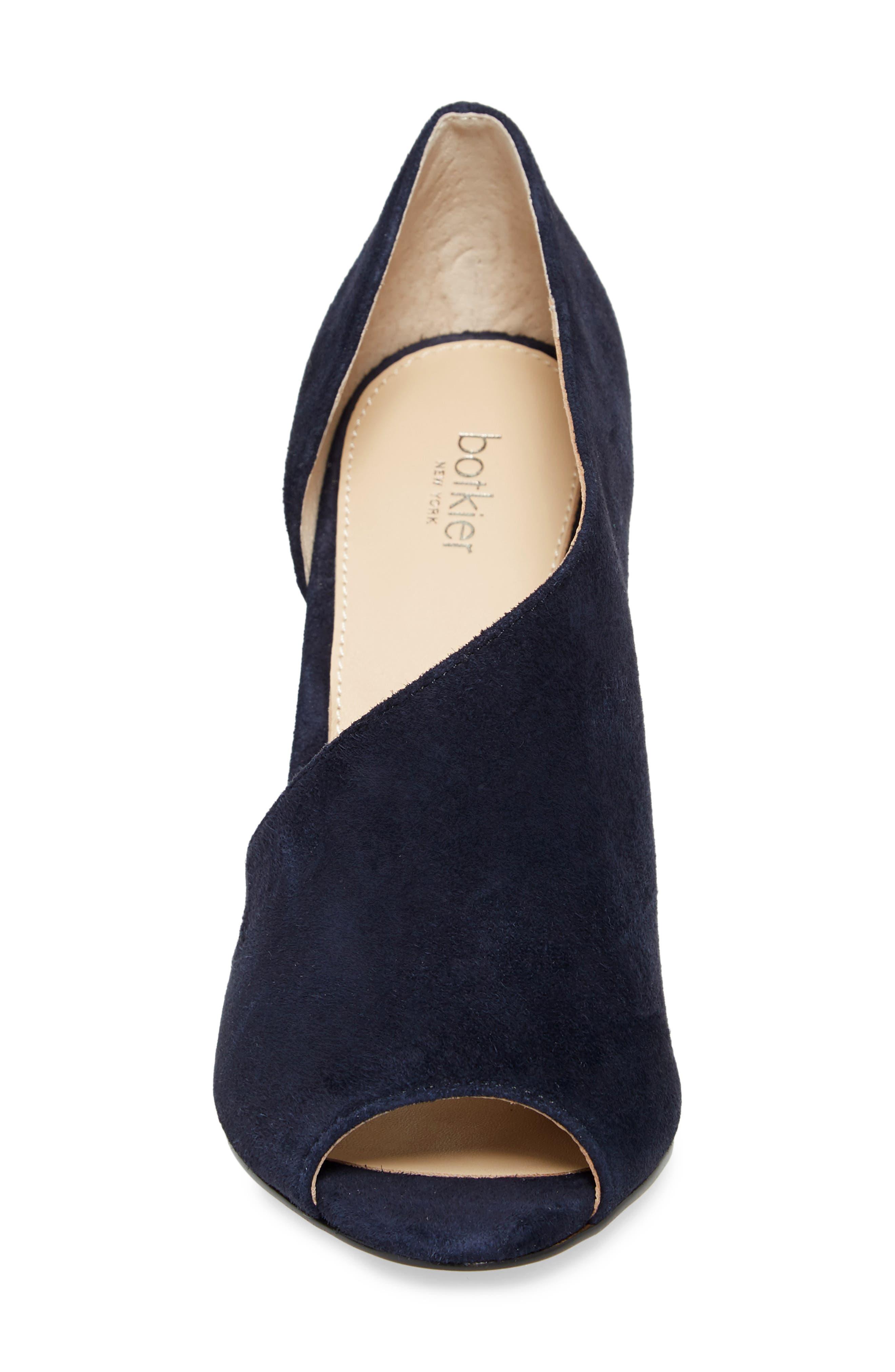 Adelia Asymmetrical Sandal,                             Alternate thumbnail 4, color,                             Navy Suede