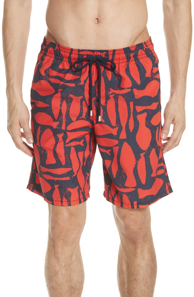 Vilebrequin Silex Fish Print Swim Trunks | Nordstrom