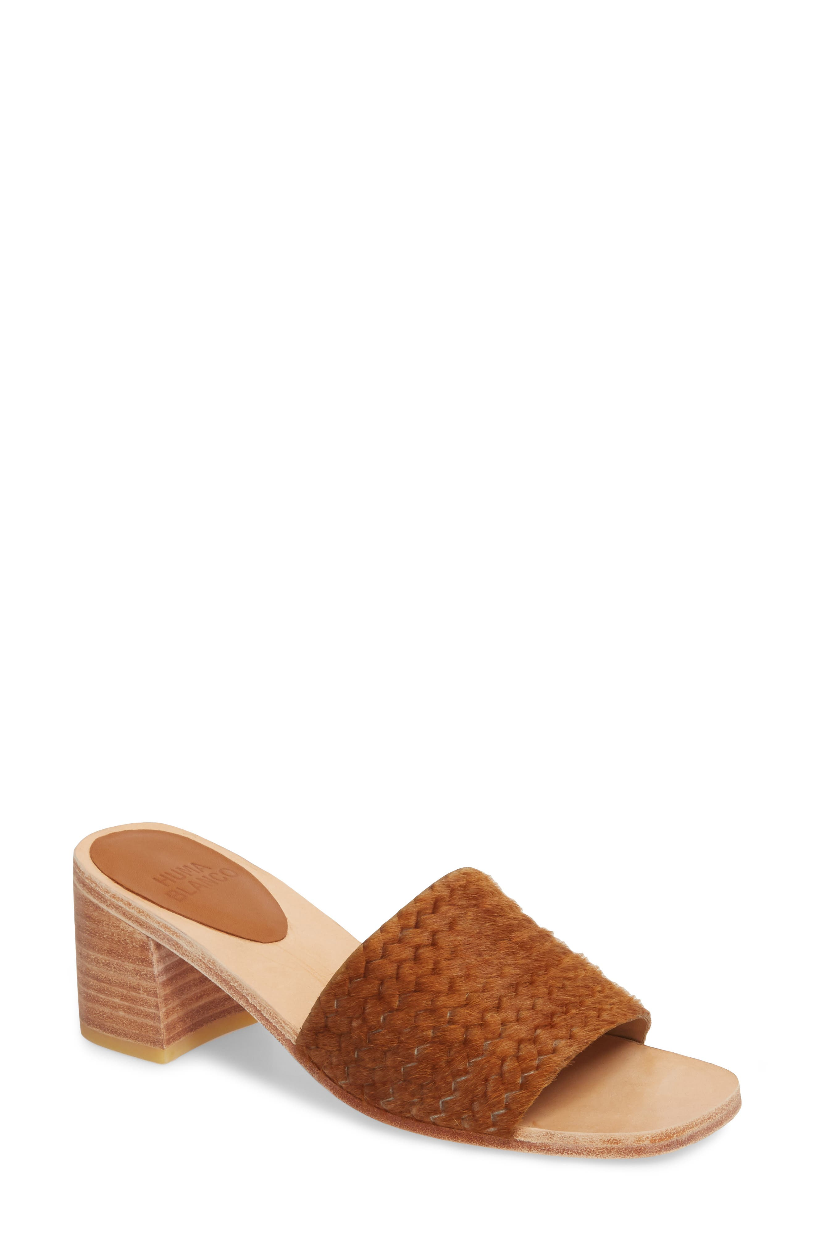 Huma Blanco Genuine Calf Hair Sandal (Women)