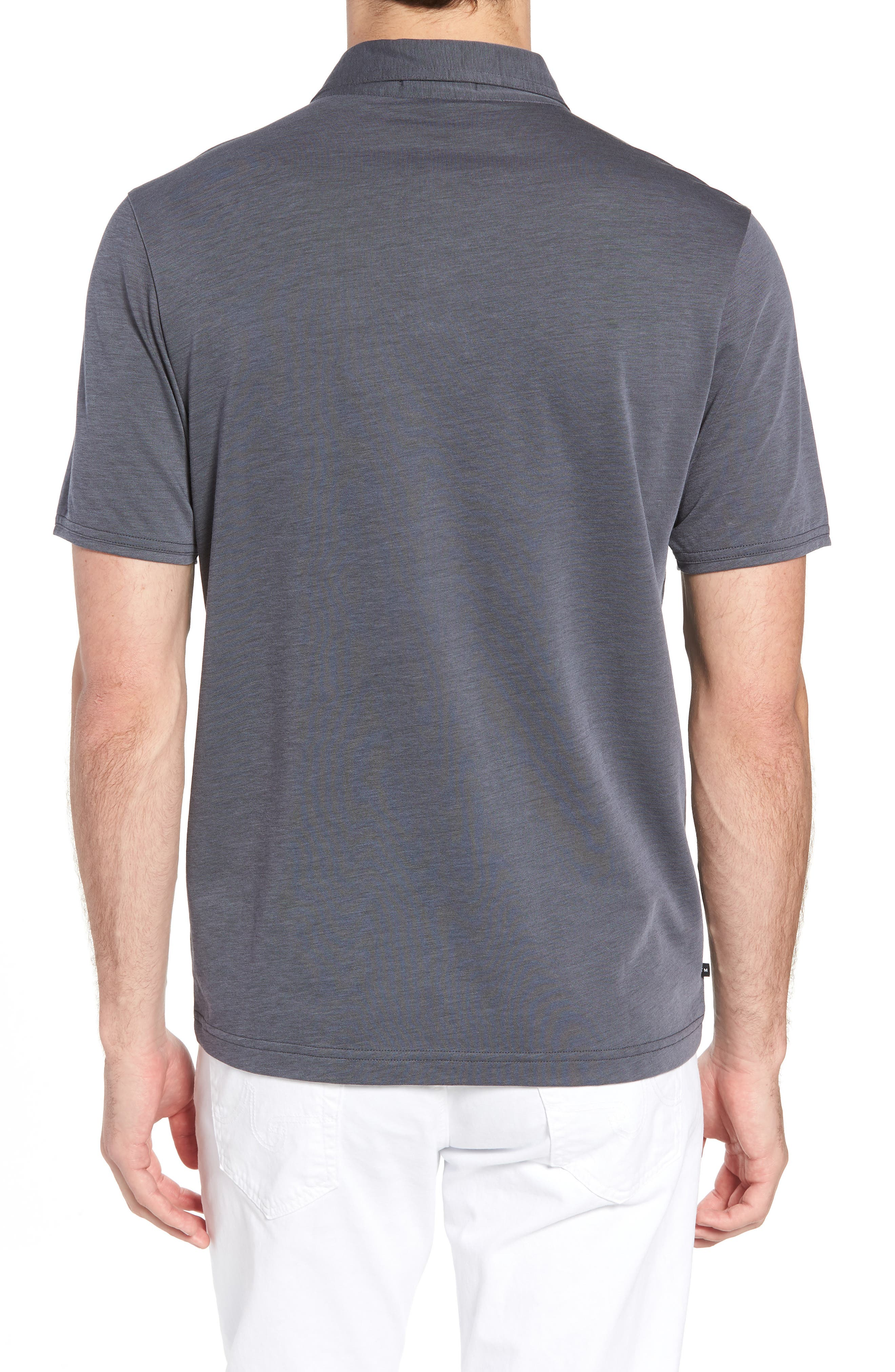 Shalene Regular Fit Polo,                             Alternate thumbnail 2, color,                             Grisaille/ Black