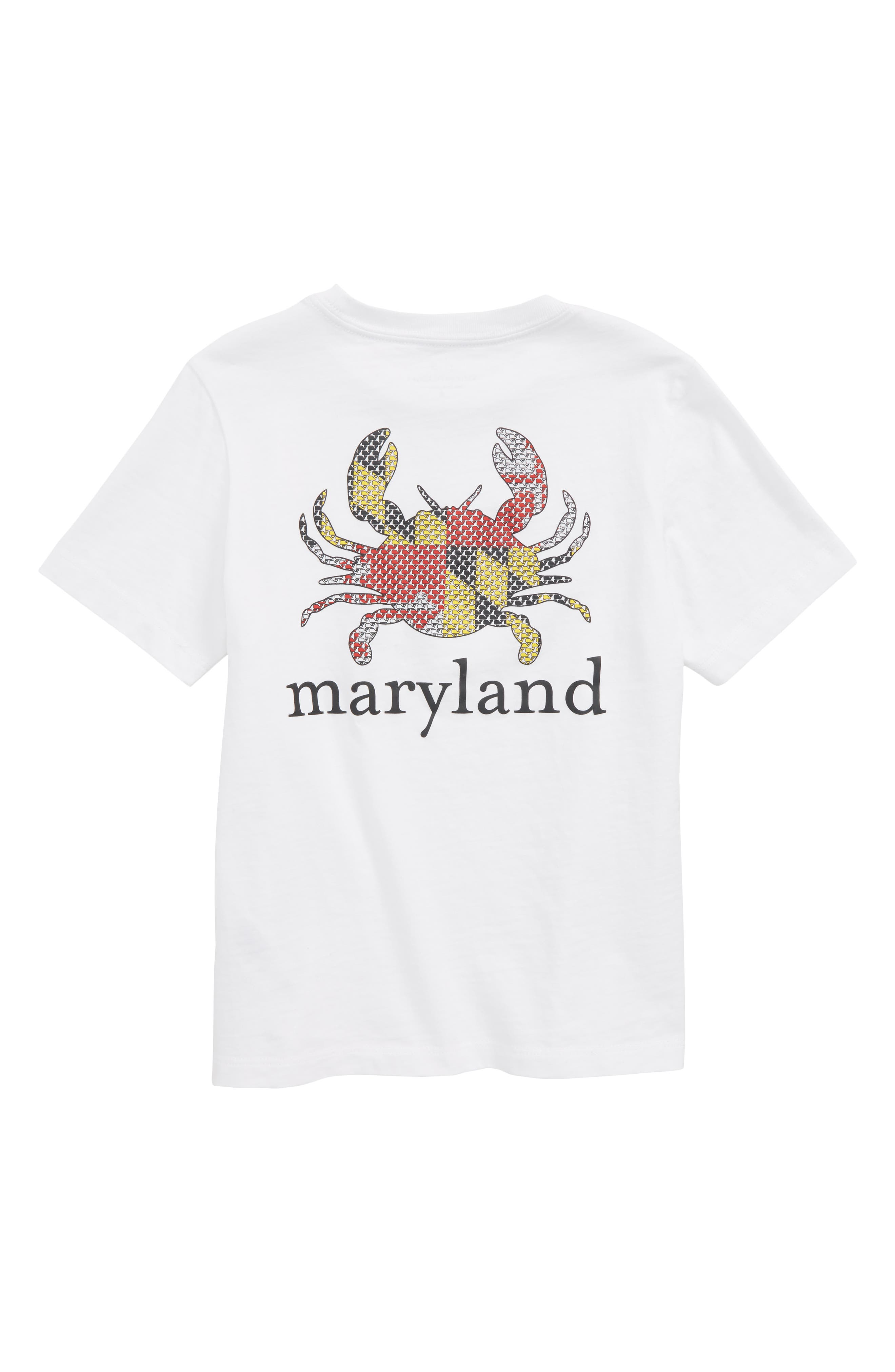 Maryland Crab Graphic Pocket T-Shirt,                             Alternate thumbnail 2, color,                             White Cap