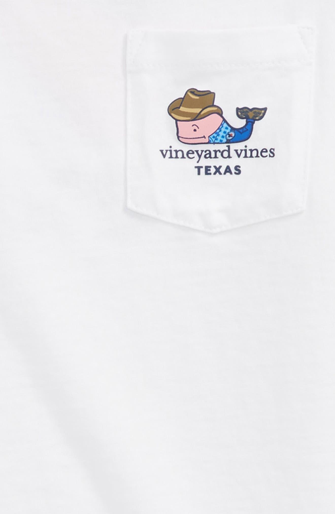 Texas Whale Pocket T-Shirt,                             Alternate thumbnail 3, color,                             White Cap