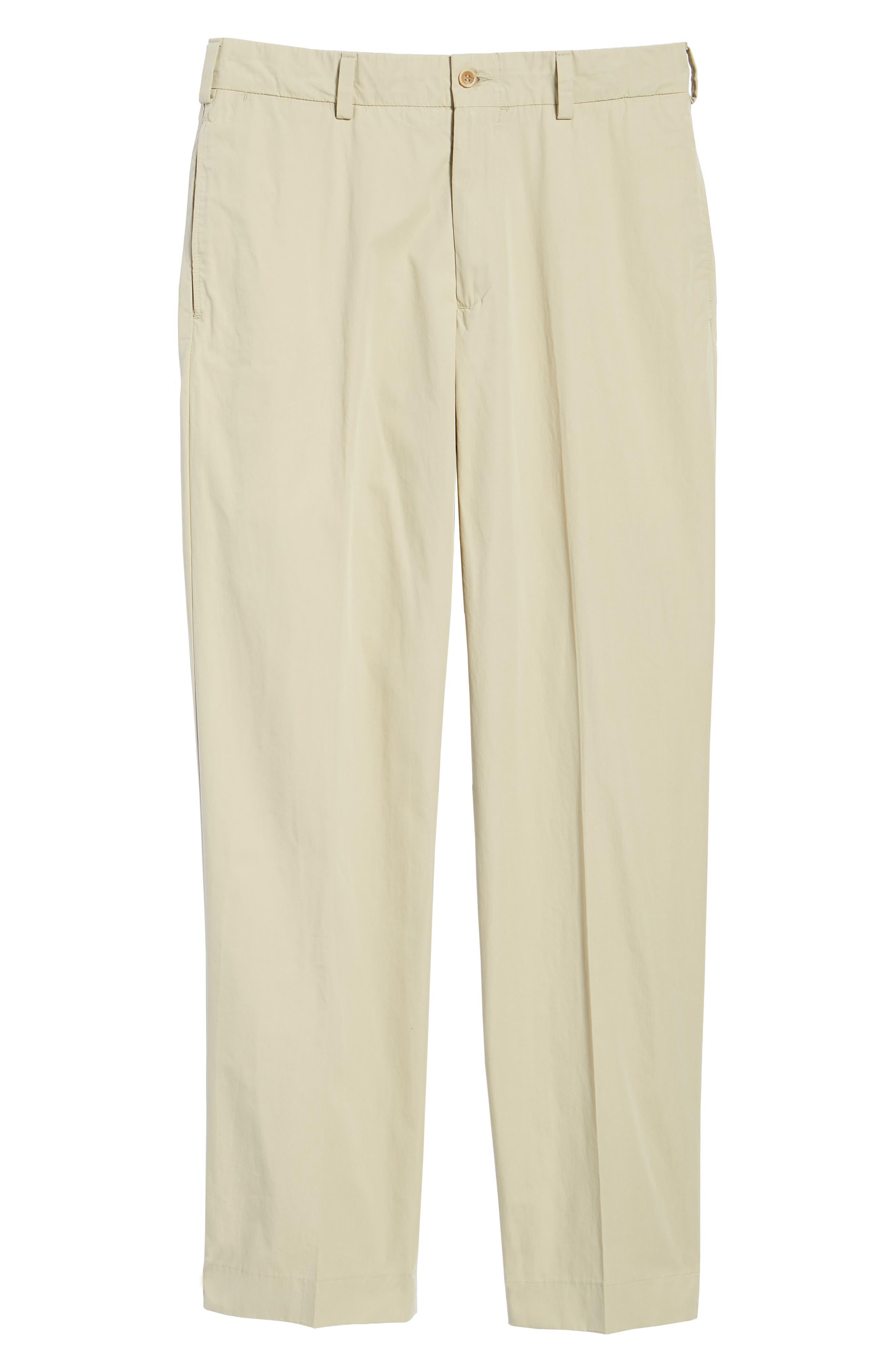 M2 Classic Fit Flat Front Tropical Cotton Poplin Pants,                             Alternate thumbnail 6, color,                             Khaki