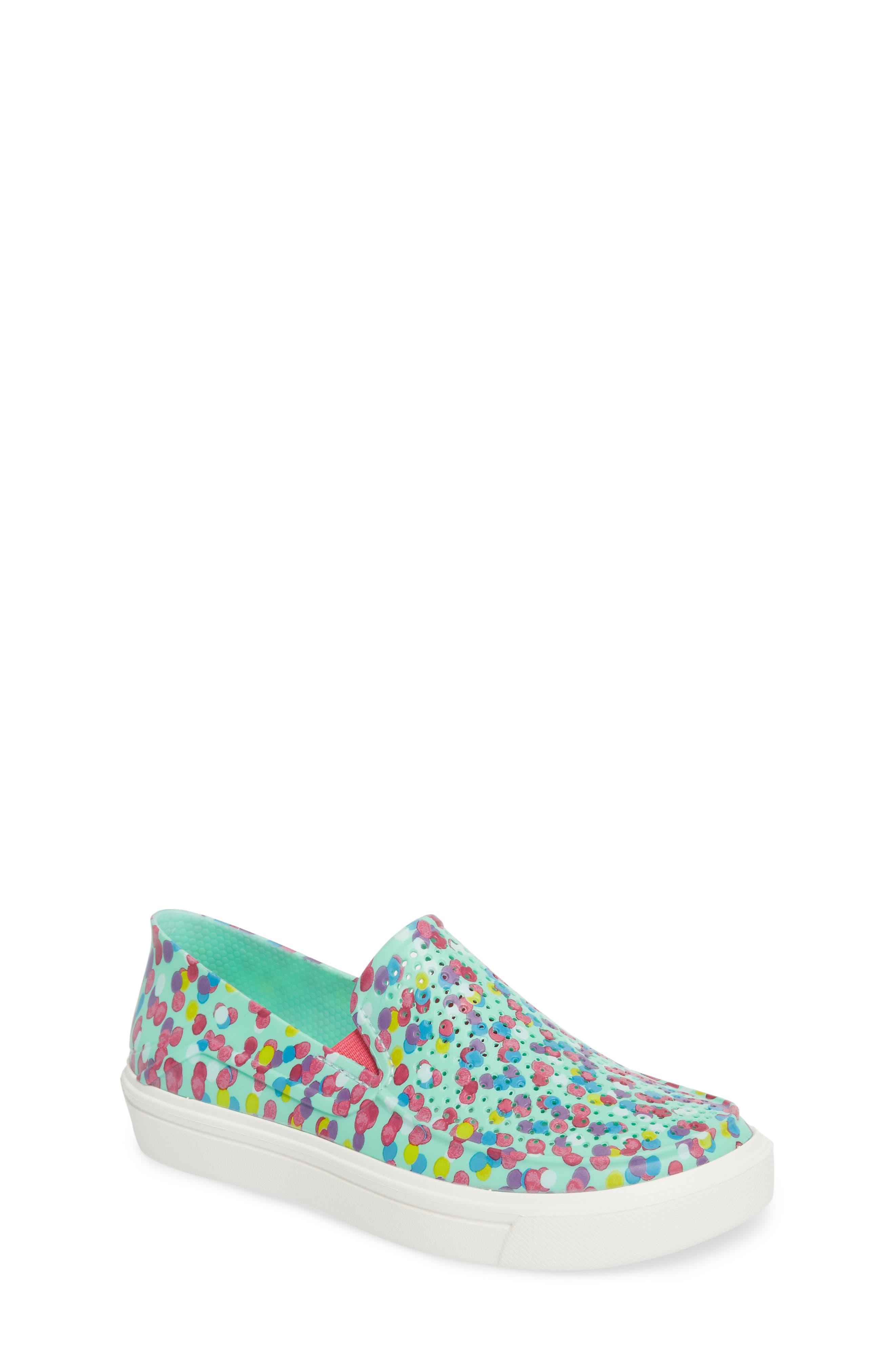 CitiLane Roka Graphic Slip-On Sneaker,                             Main thumbnail 1, color,                             Multi/ Mint