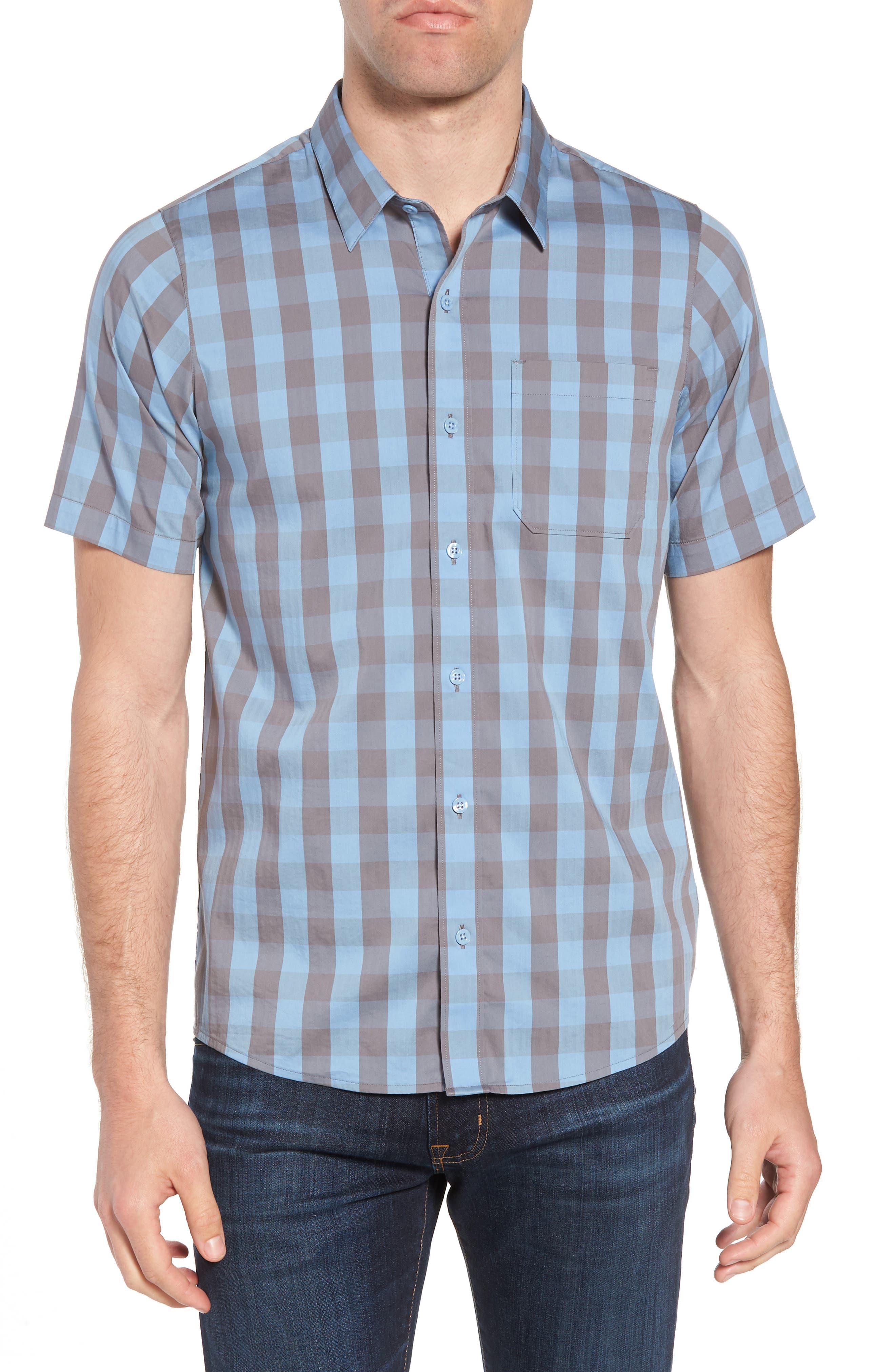 Hunter Check Performance Sport Shirt,                         Main,                         color, Allure