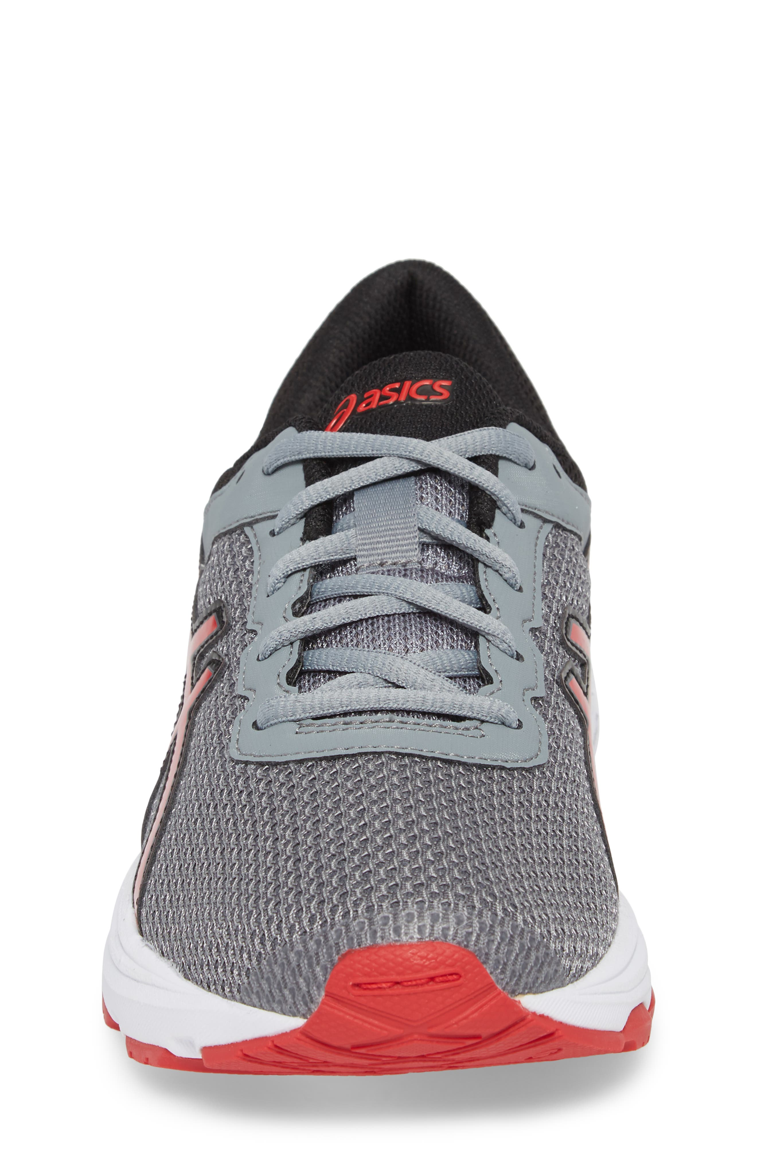 Asics GT-1000<sup>™</sup> 6 GS Sneaker,                             Alternate thumbnail 4, color,                             Stone Grey/ Classic Red/ Black