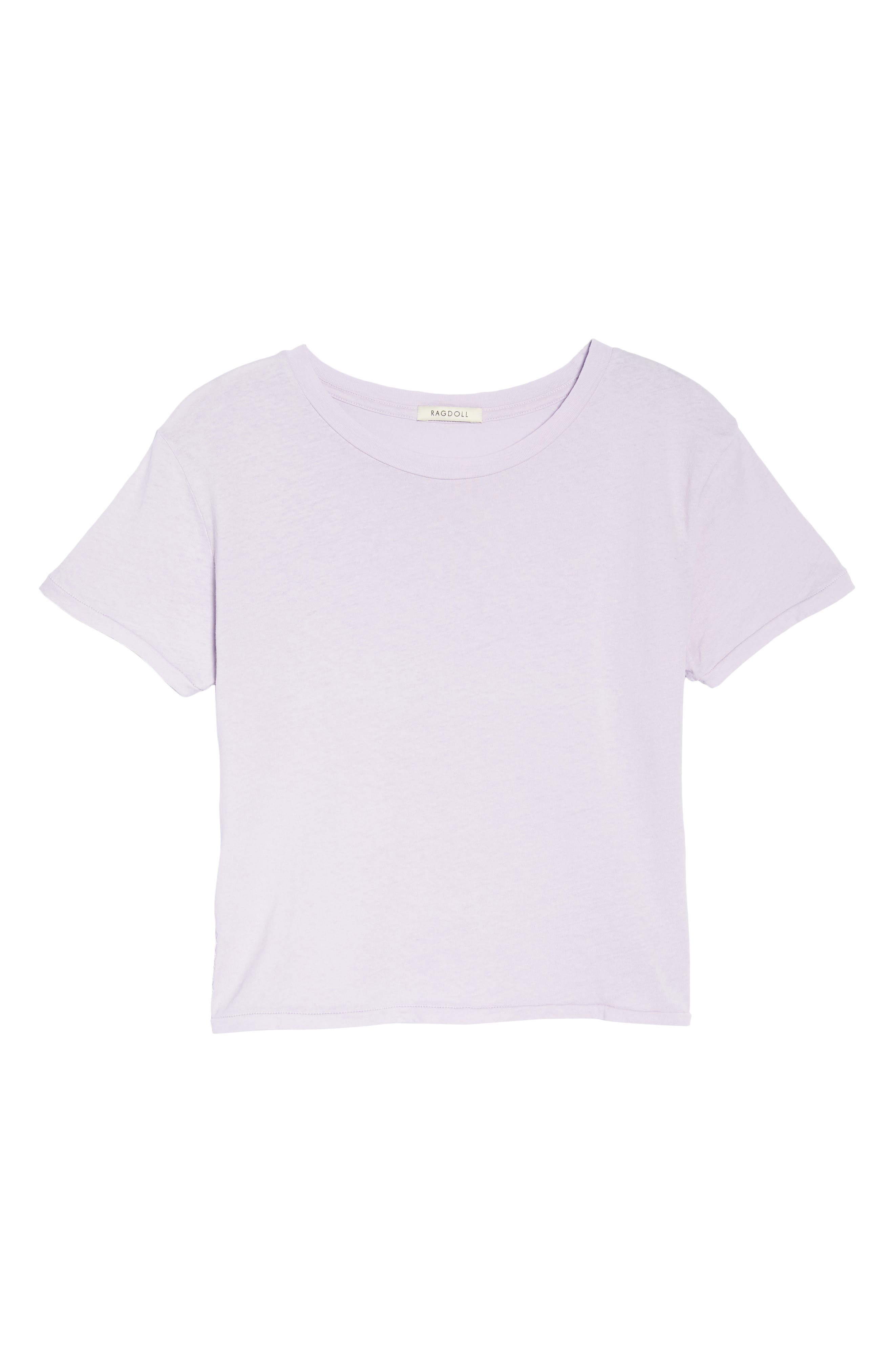 Crop Tee,                             Alternate thumbnail 4, color,                             Lilac