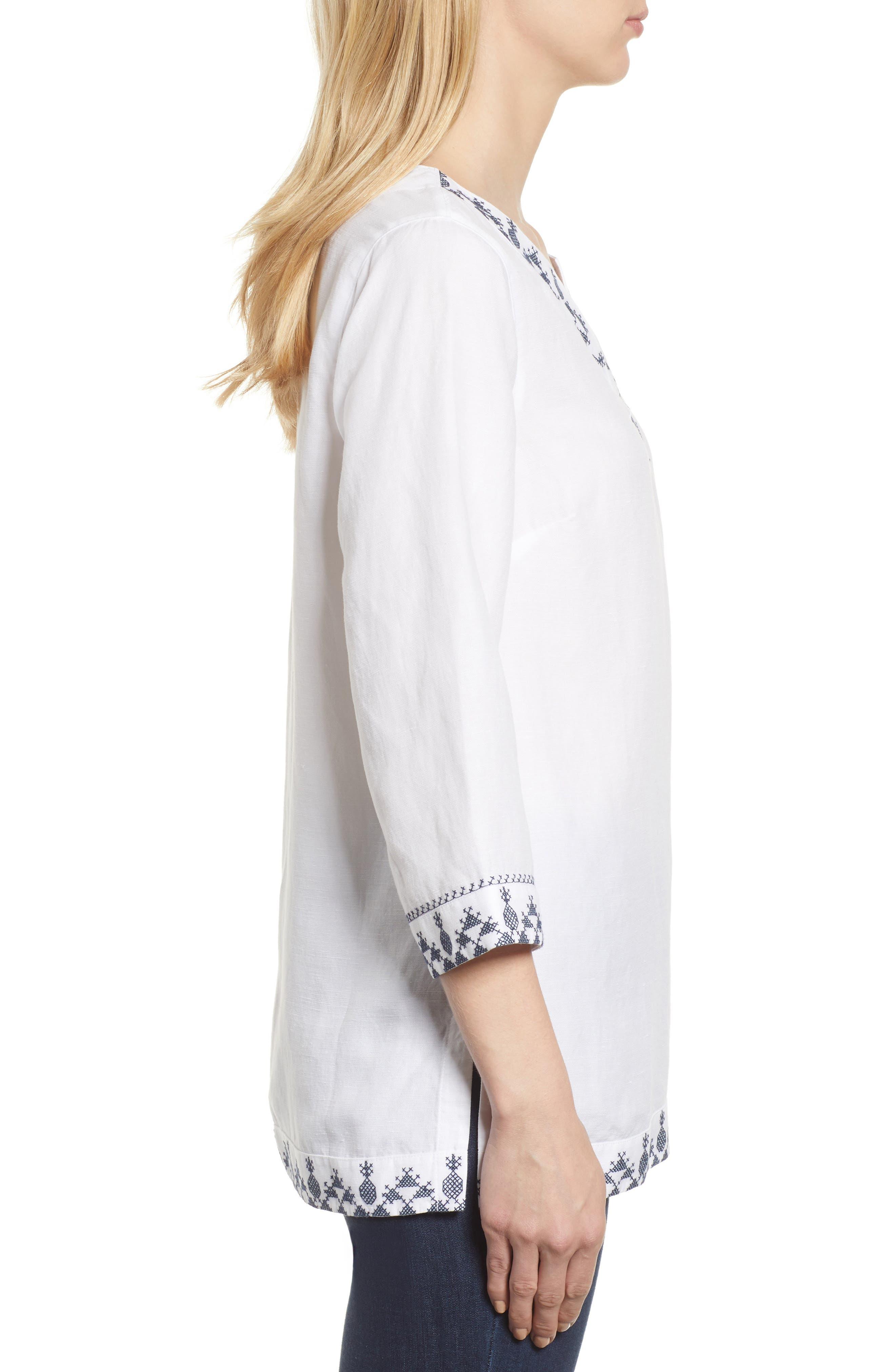 Prim Pina Embroidered Tunic,                             Alternate thumbnail 2, color,                             White