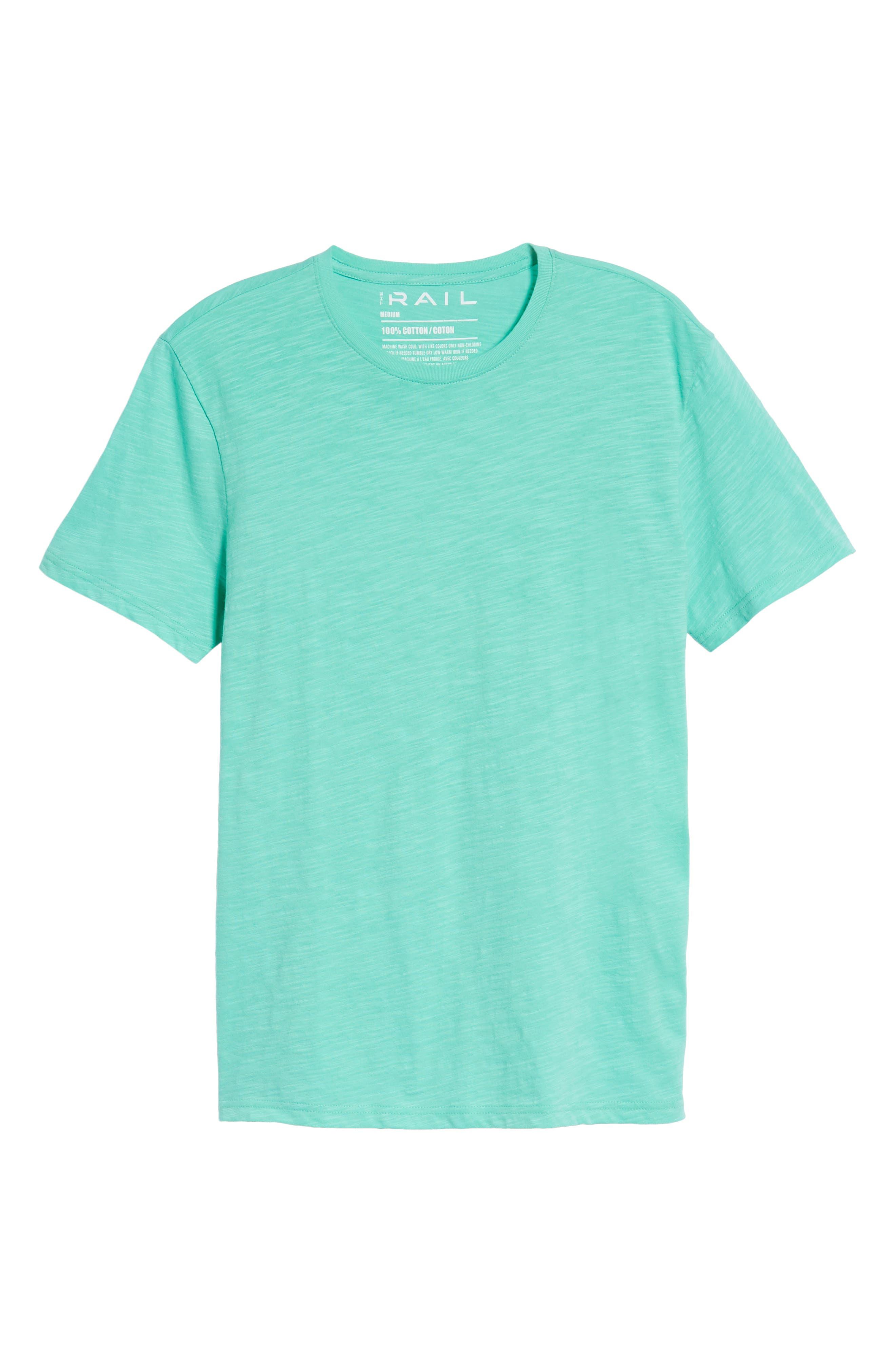 Slub Knit T-Shirt,                             Alternate thumbnail 6, color,                             Green Largo