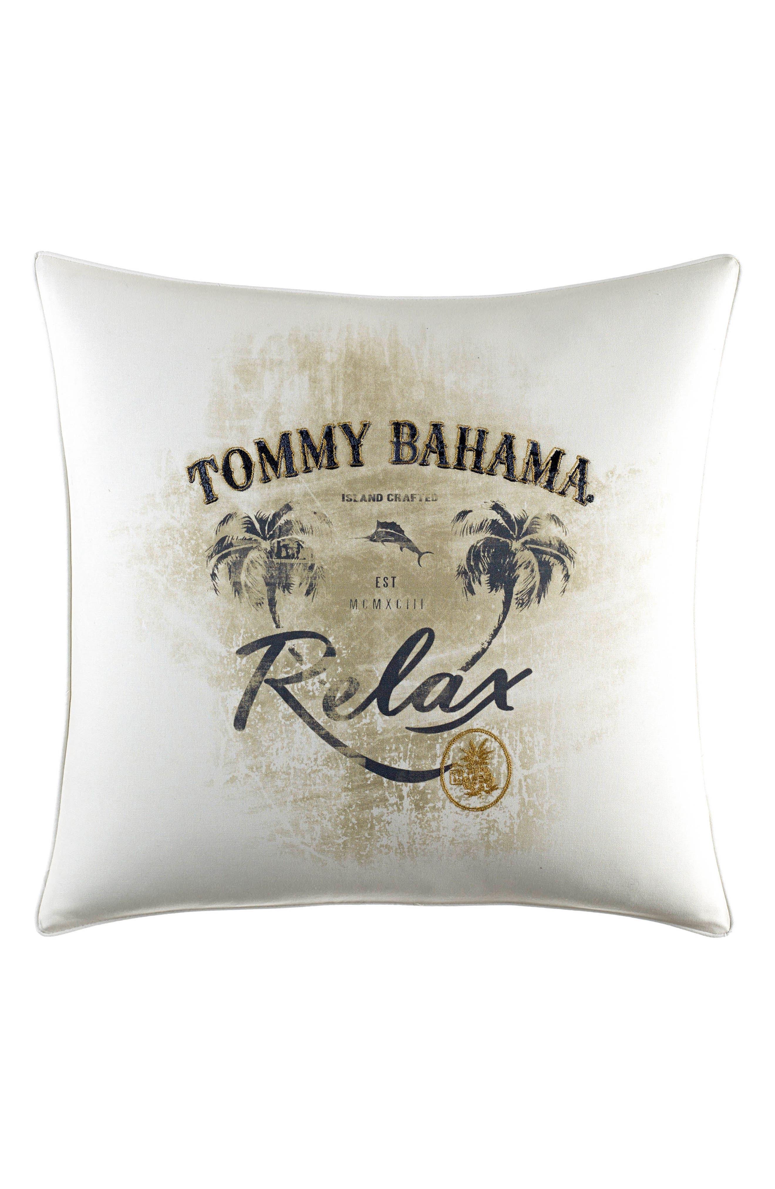 Palms Away Relax Accent Pillow,                         Main,                         color, Light Beige