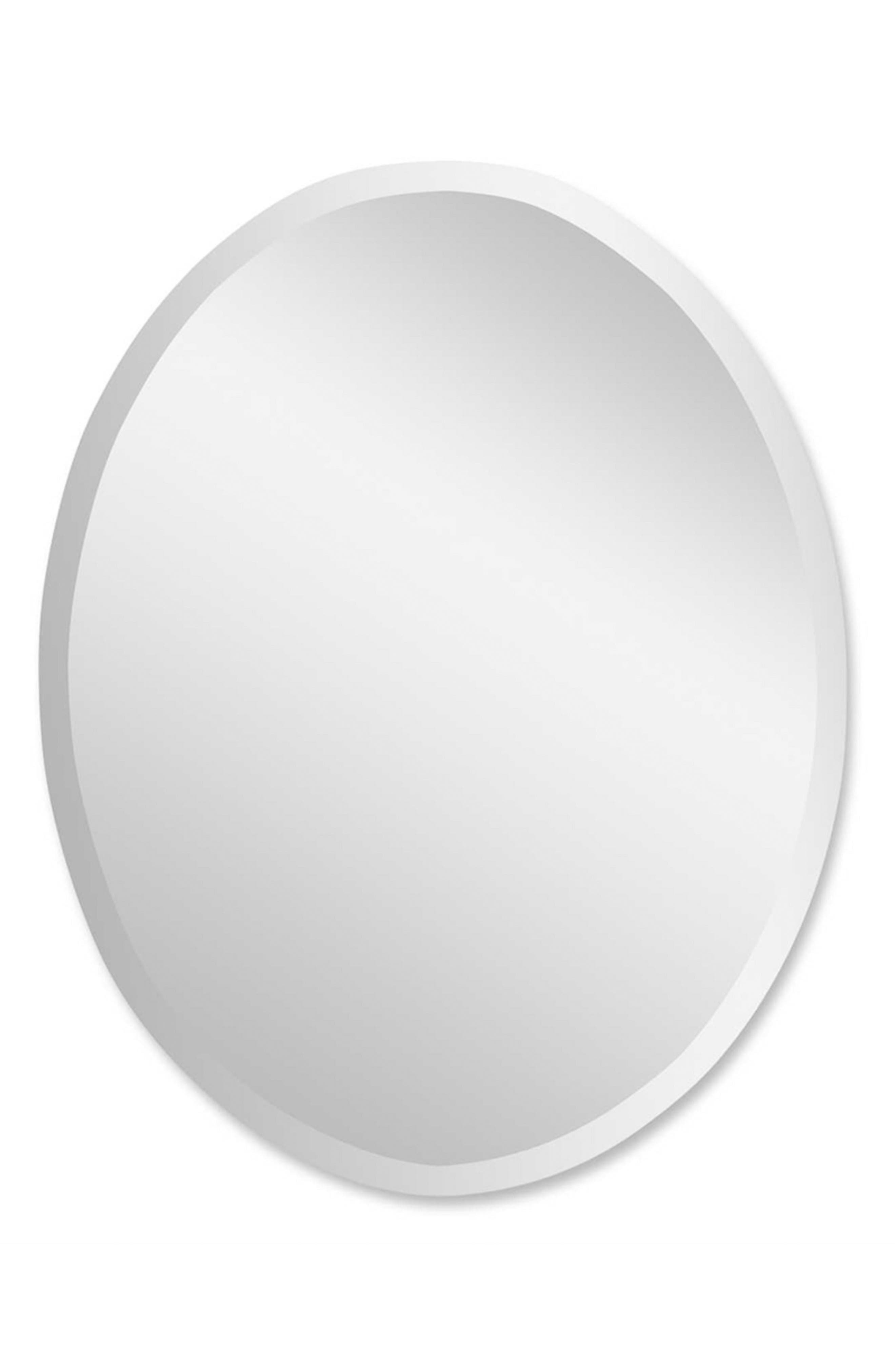 Oval Mirror,                         Main,                         color, Grey