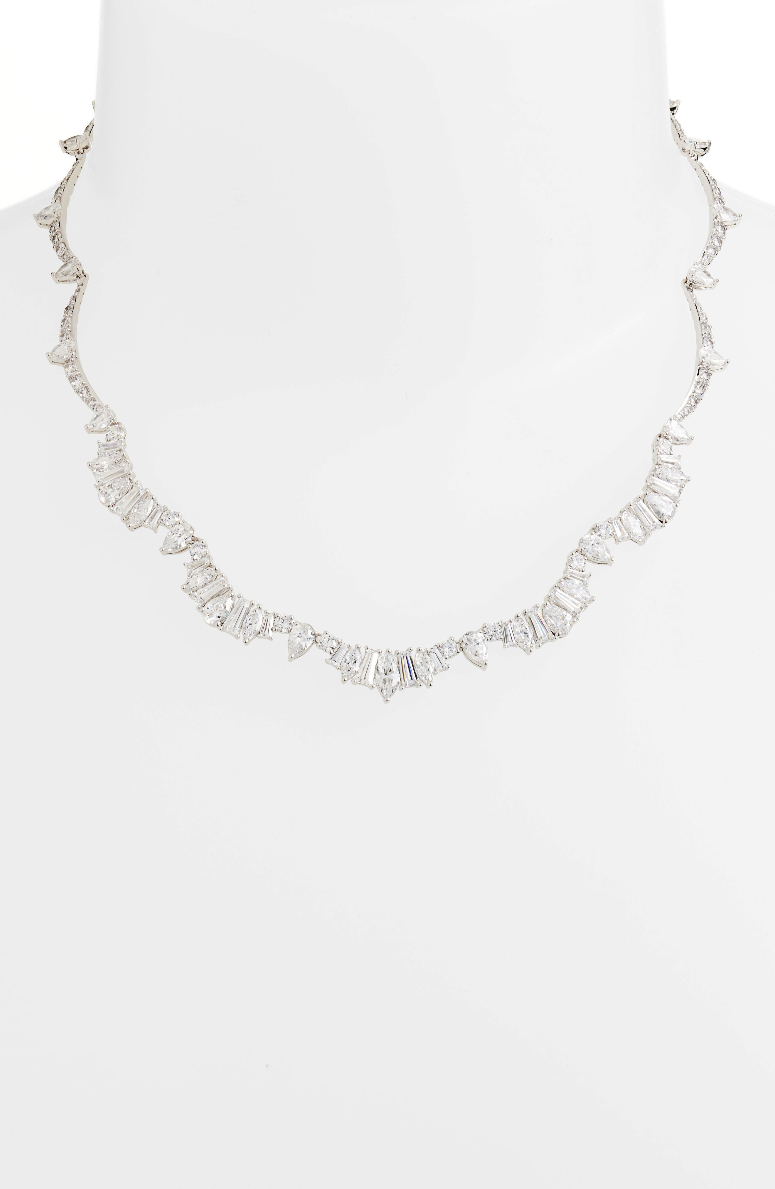 Fanfare All-Around Necklace,                             Alternate thumbnail 2, color,                             Silver