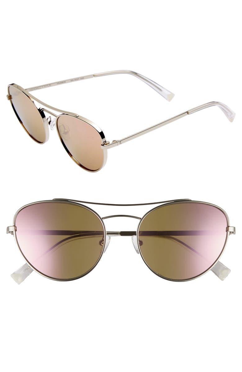 519262fd67b Kendall + Kylie Yasmin 55Mm Aviator Sunglasses - Silver  Rose Gold Mirror