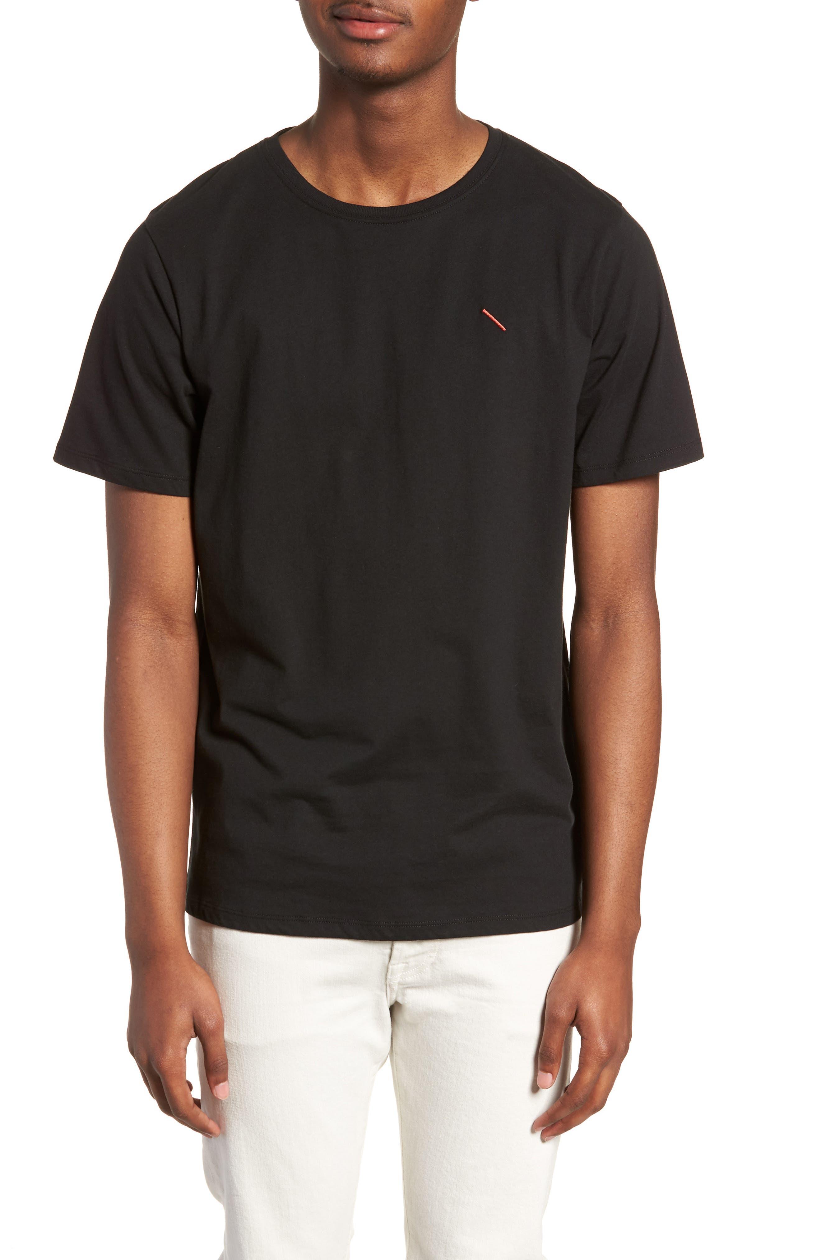 Embroidered Slash T-Shirt,                             Main thumbnail 1, color,                             Black