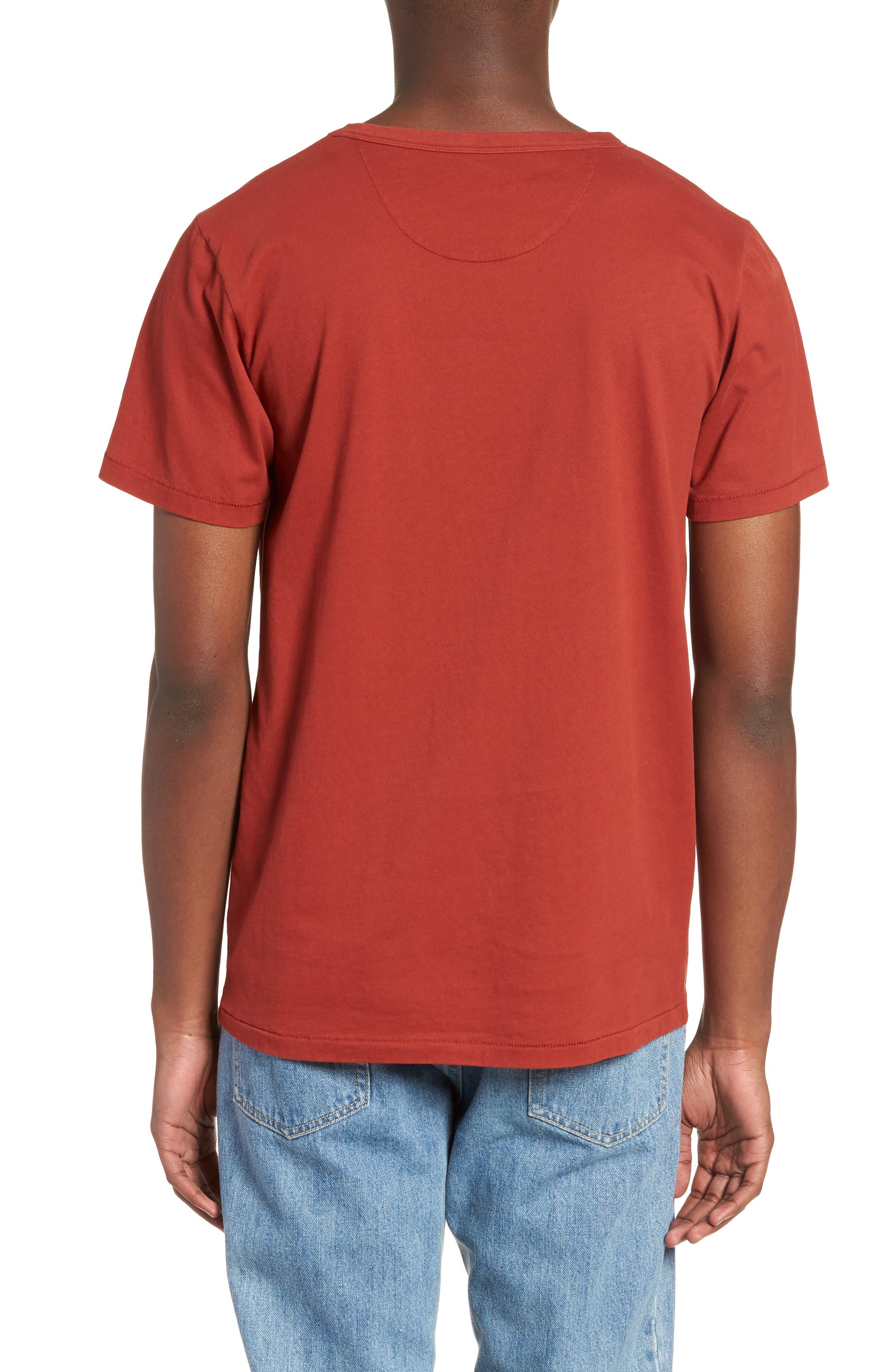 Brandon Pima T-Shirt,                             Alternate thumbnail 2, color,                             Brick