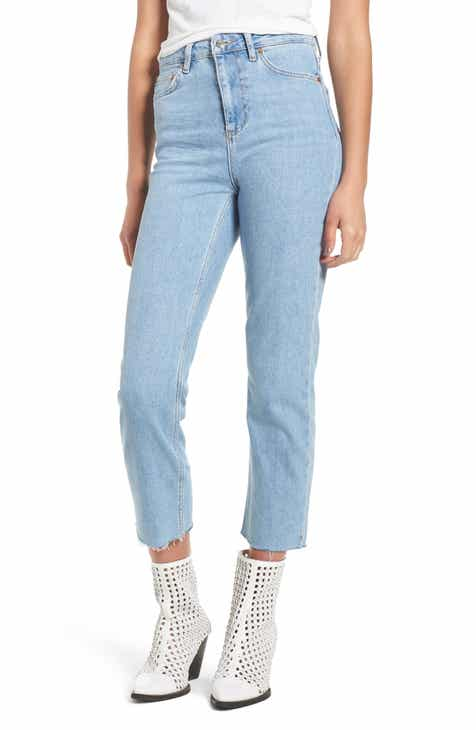 b80fcb214dca Topshop Raw Hem Straight Leg Jeans (Regular   Petite)