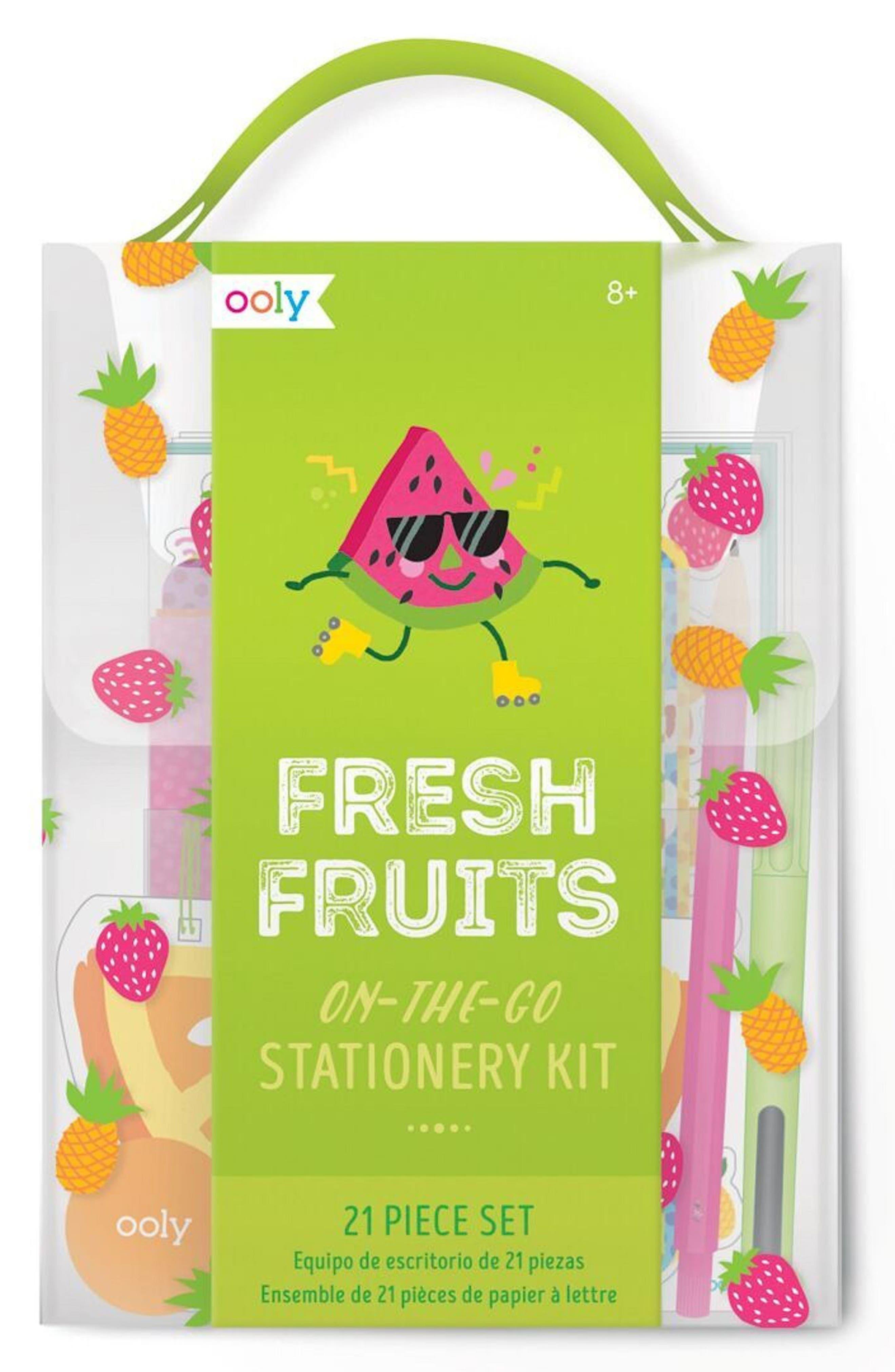 Ooly Fresh Fruit Travel Stationary Kit,                         Main,                         color, Multi