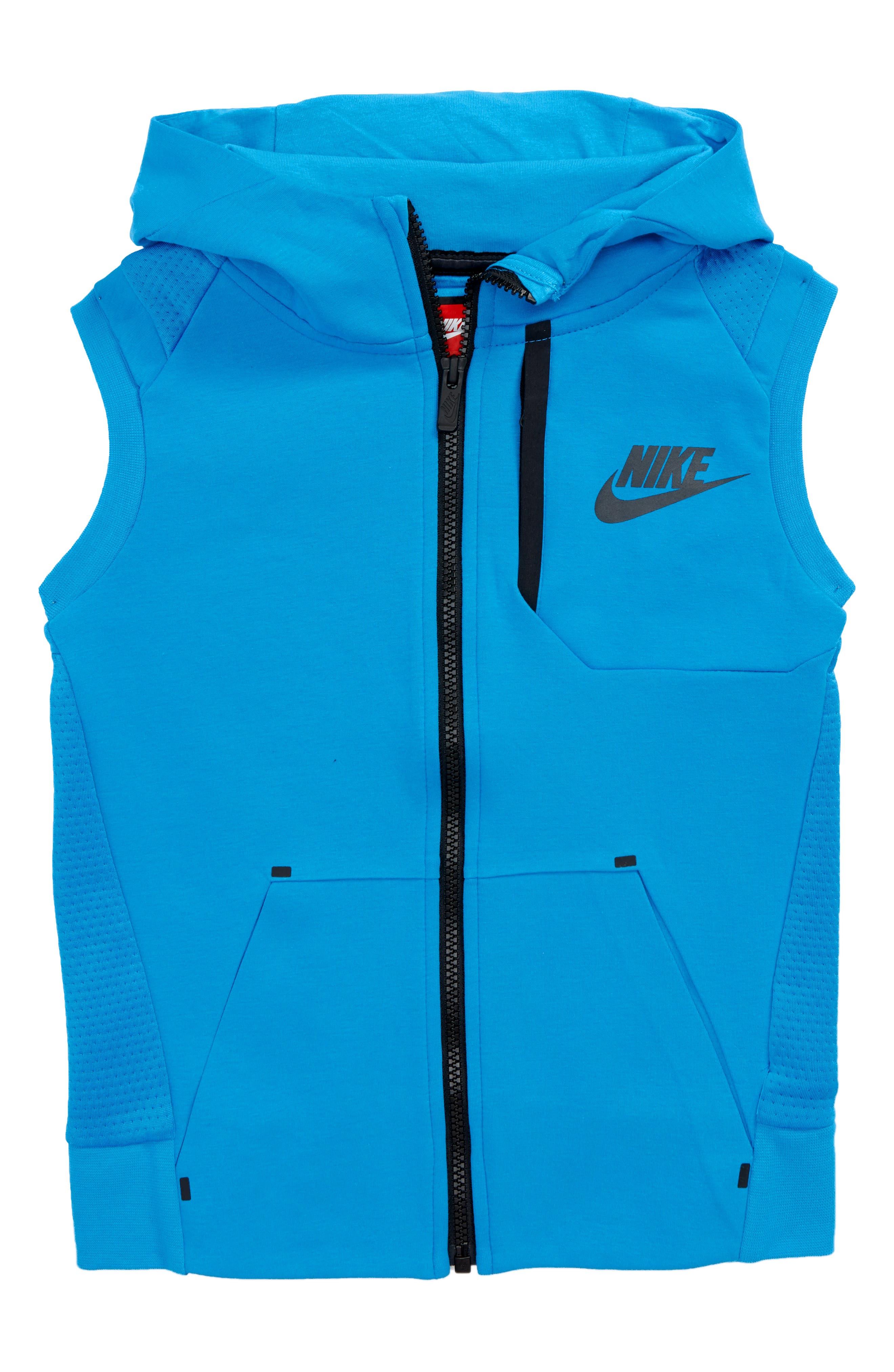 Alternate Image 1 Selected - Nike Tech Fleece Hooded Vest (Little Boys)