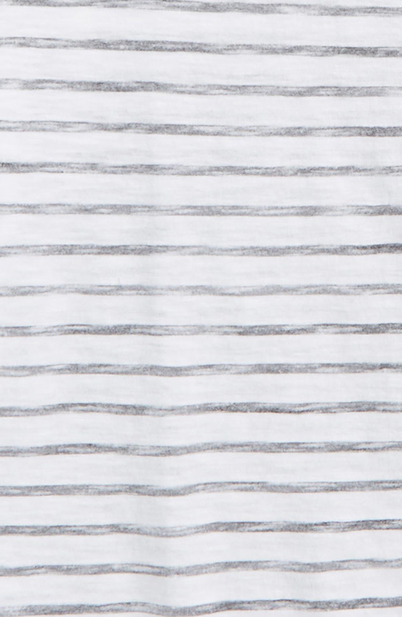 Split Stripe T-Shirt,                             Alternate thumbnail 2, color,                             White- Black Stripe